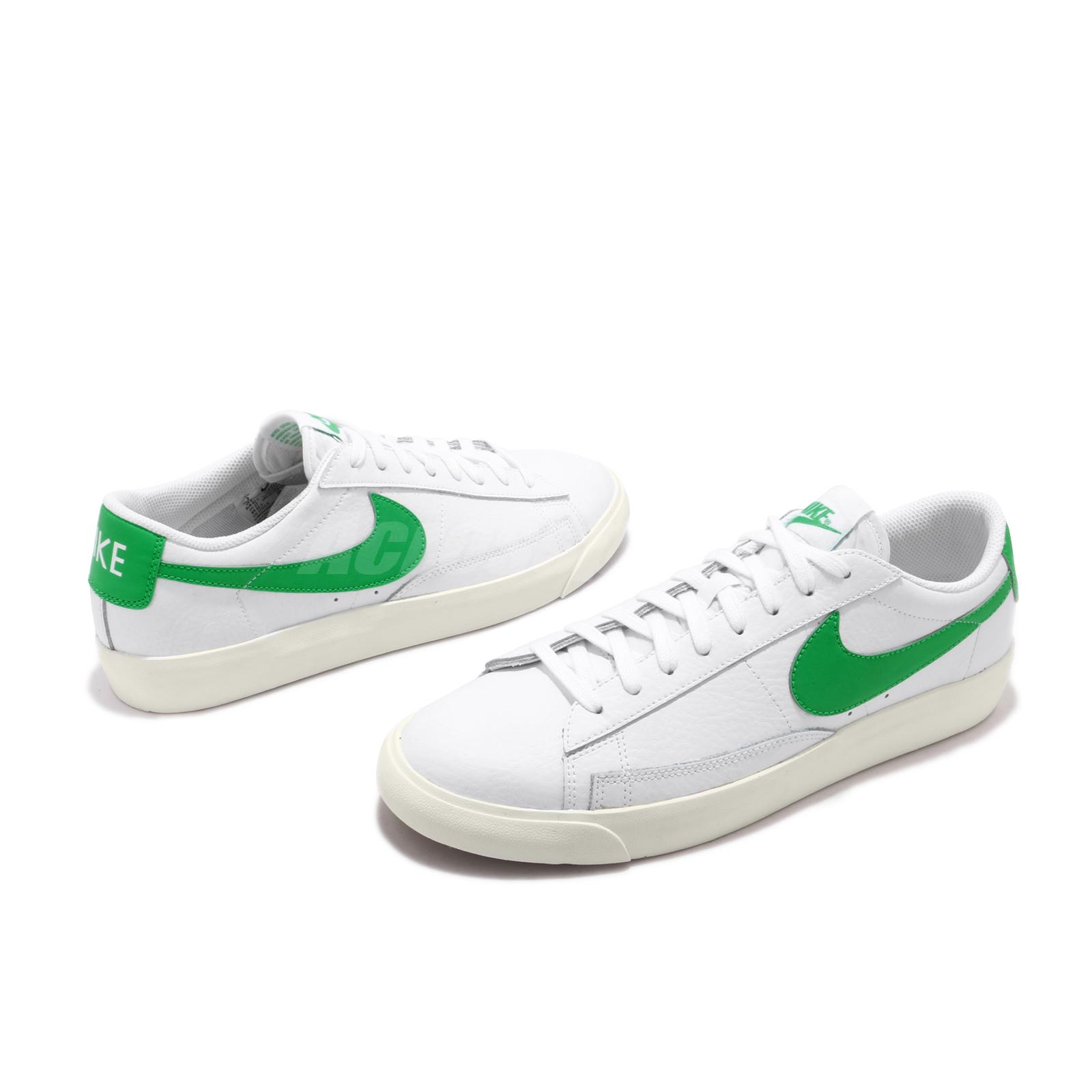 Details about Nike Blazer Low Leather White Green Spark Sail Men Classic  Shoes CI6377-105