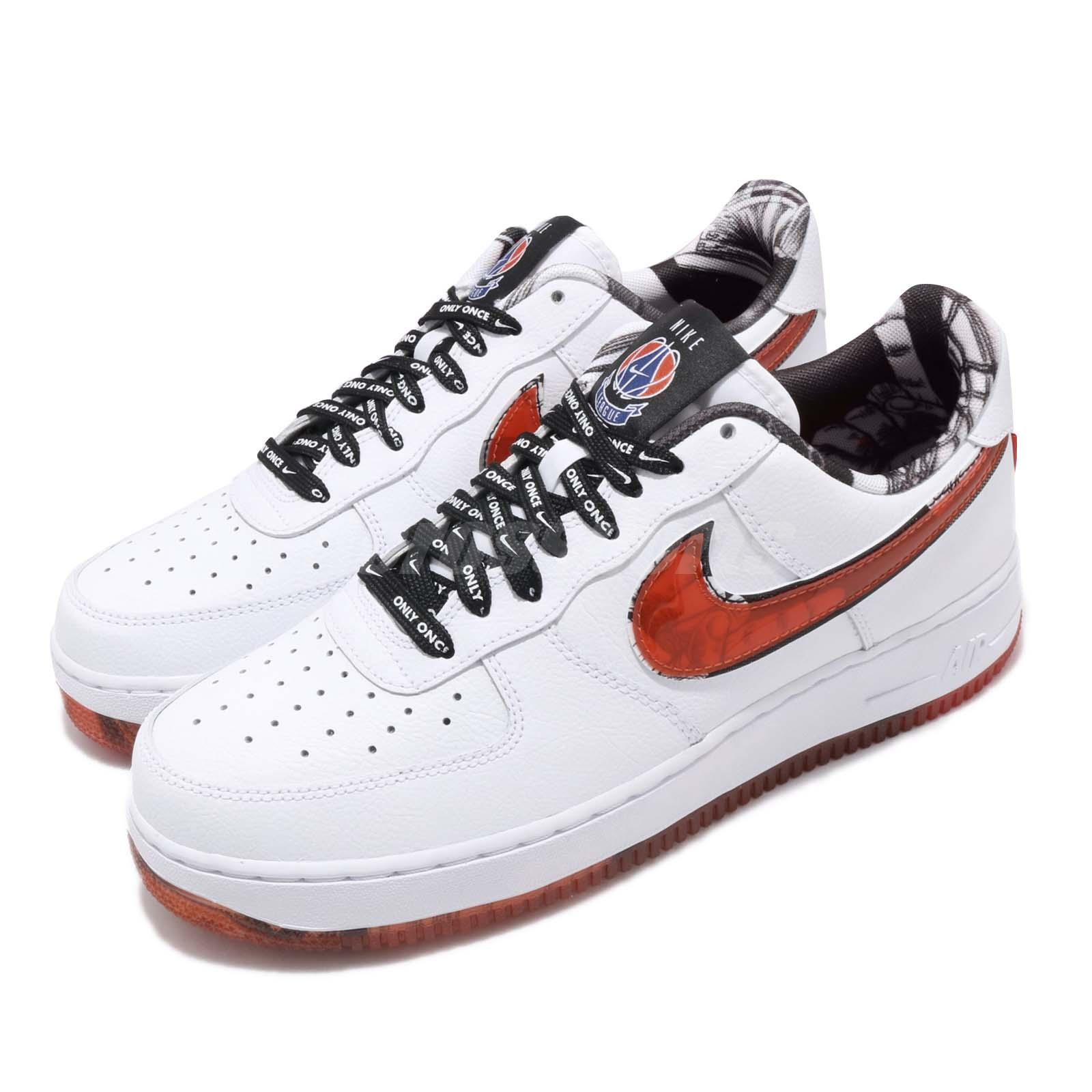 huge selection of a8f92 a1a6f Details about Nike Air Force 1 07 LV8 AF1 Only Once White Red Men Shoes  Sneakers CJ2826-178