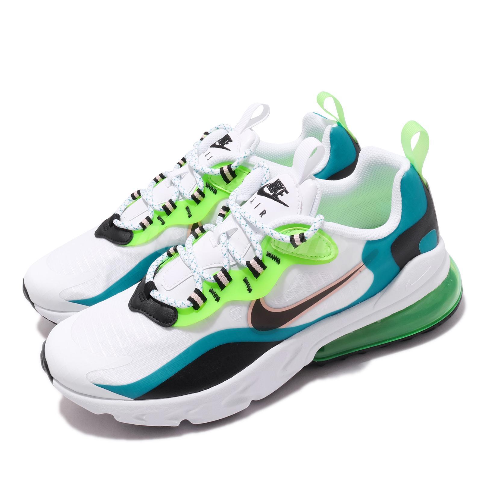 Nike Air Max 270 React Se Gs Oracle Aqua Black White Green Kid