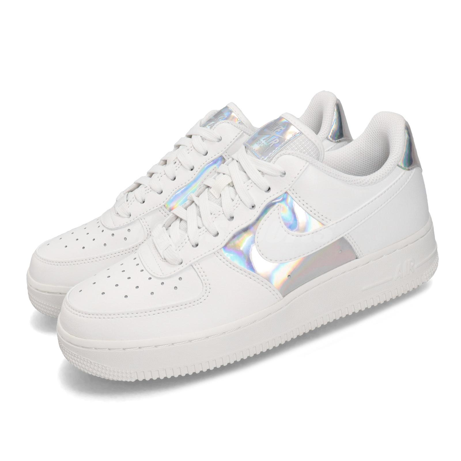Details about Nike Wmns Air Force 1 Low White Iridescent Silver Womens Casual Shoes CJ9704 100