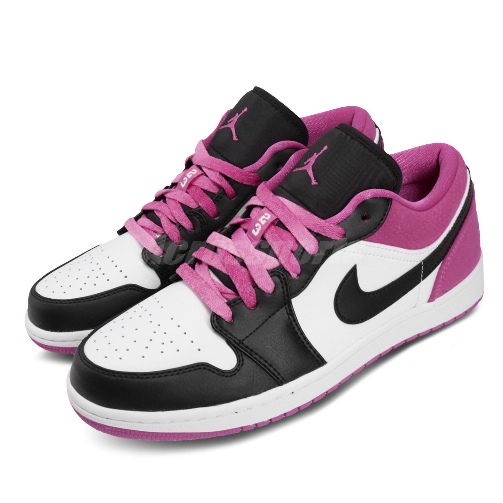 Nike Air Jordan 1 Low Se I Aj1 Fuchsia Black White Magenta Men