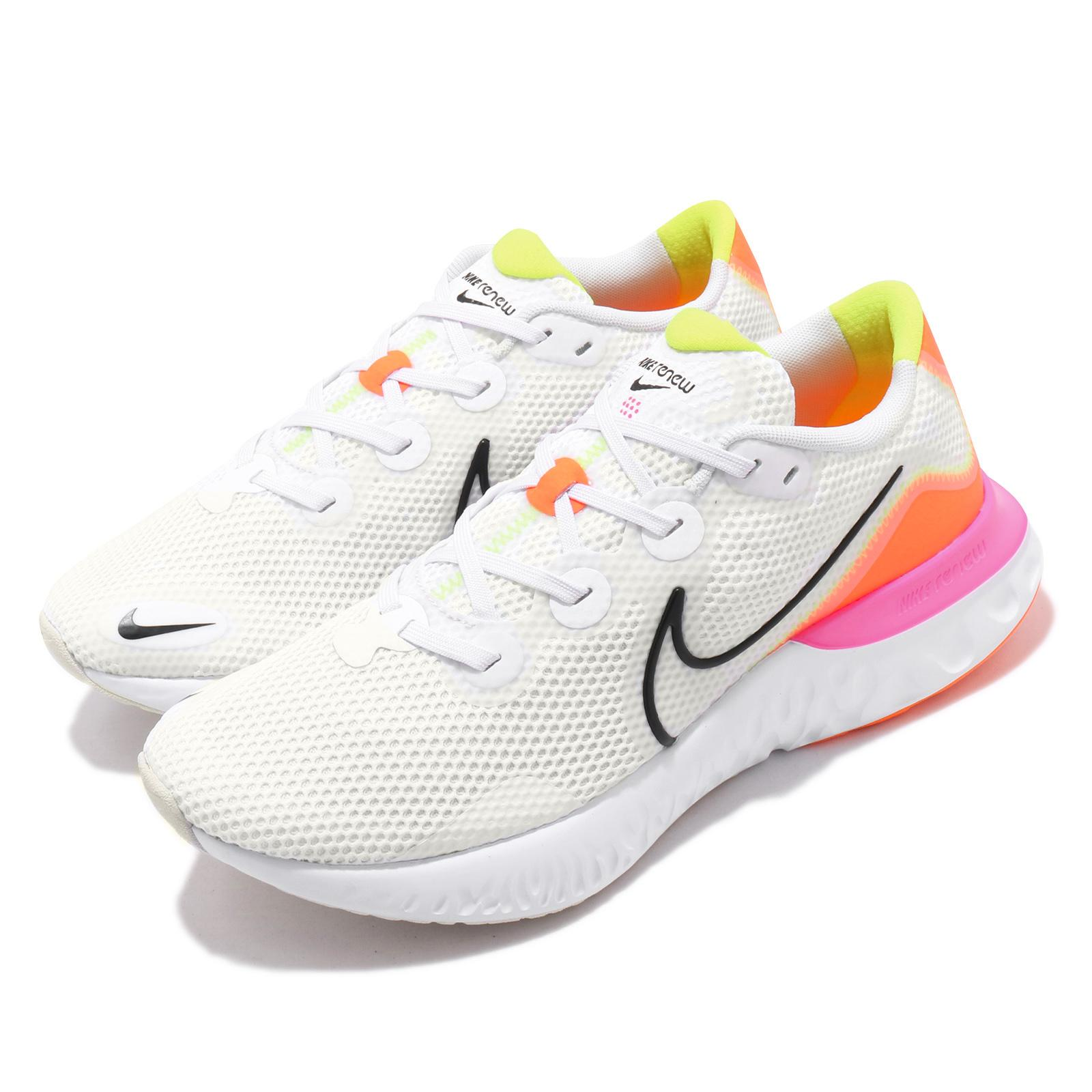 usted está Onza estafador  Nike Renew Run White Black Orange Pink Yellow Men Running Shoes CK6357-100  | eBay