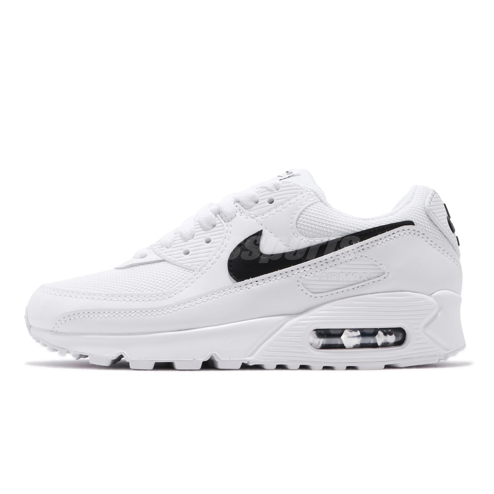 Nike Wmns Air Max 90 White Black Women Classic Casual Shoes Sneakers Cq2560 101 Ebay