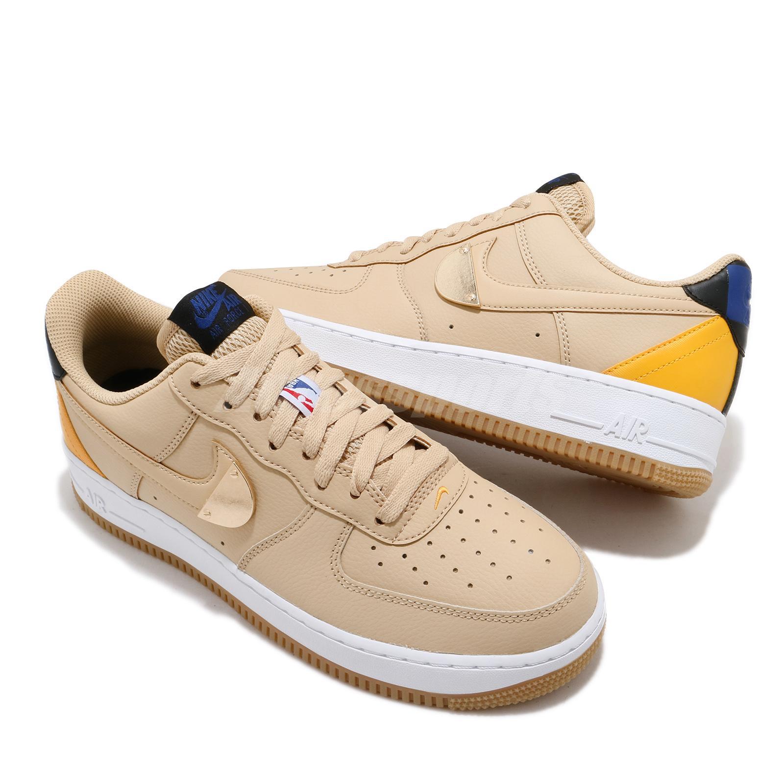 Details about Nike Air Force 1 07 LV8 NBA Sesame University Gold White Gum  Men CT2298-200