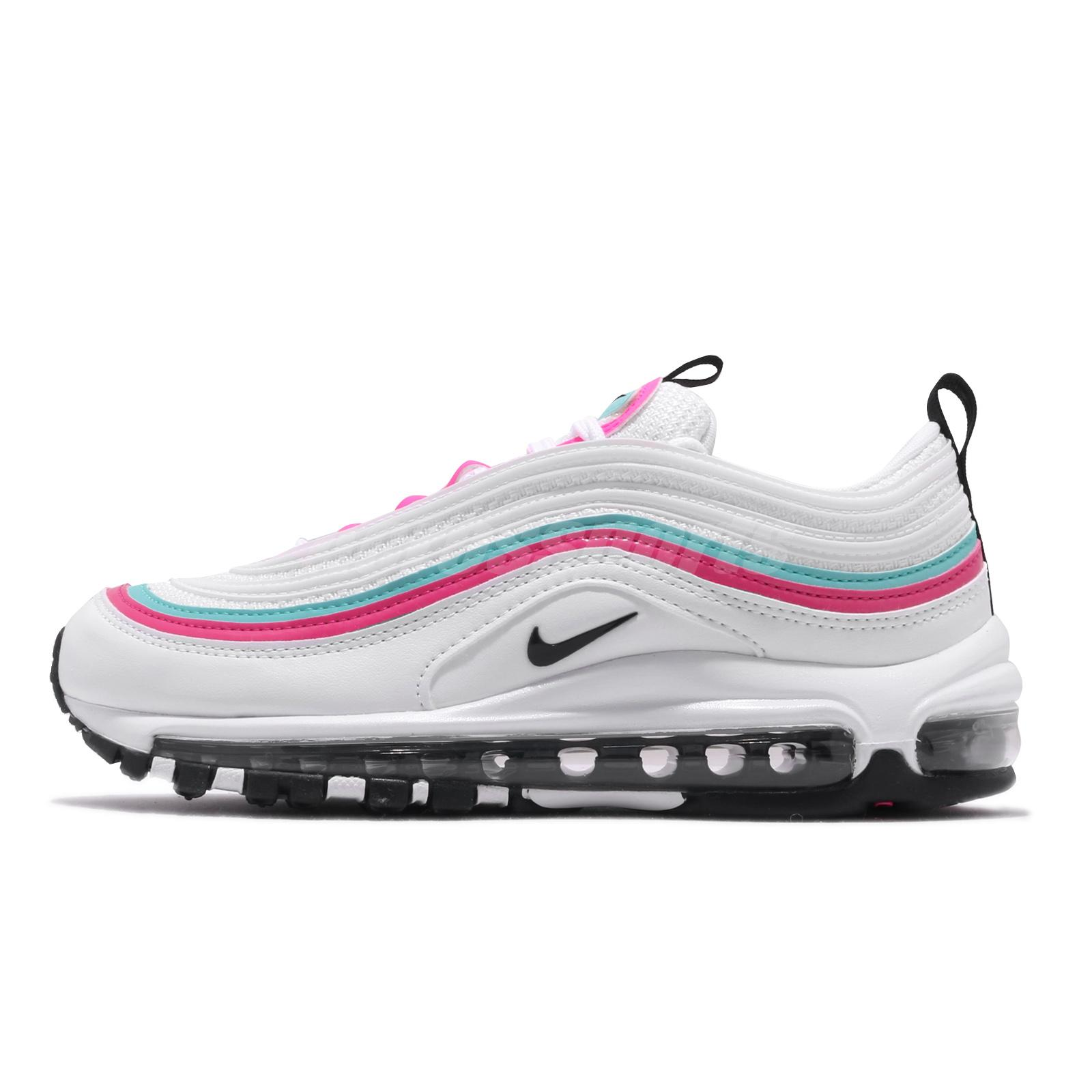 Nike Wmns Air Max 97 Summit White Black Pink Turq Women Casual