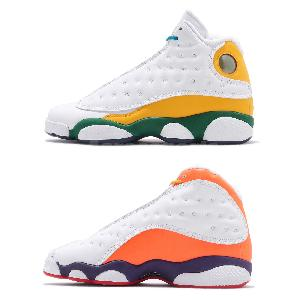 Nike GS Air Jordan Retro XIII 13 Playground White Black Purple Orange CV0785-158