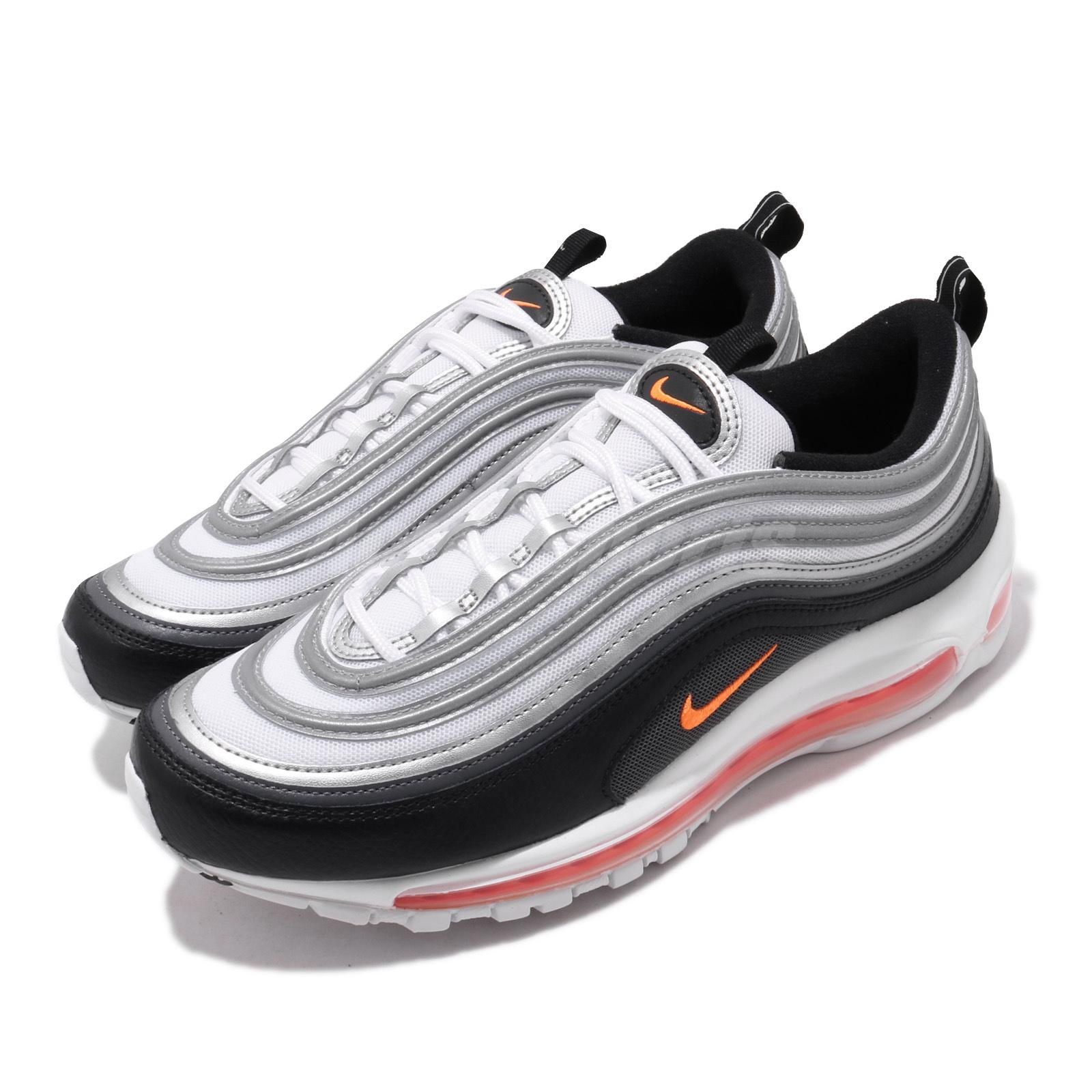Nike Air Max 97 White Black Orange Grey Silver Men Lifestyle Shoes