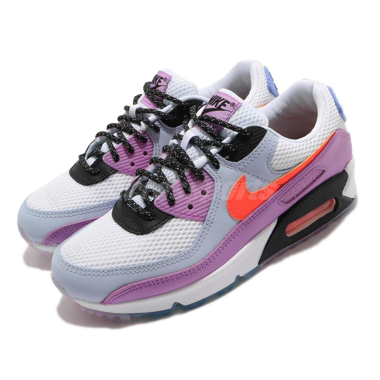 Nike Wmns Air Max 90 Carnival White Crimson Purple Women Casual ...