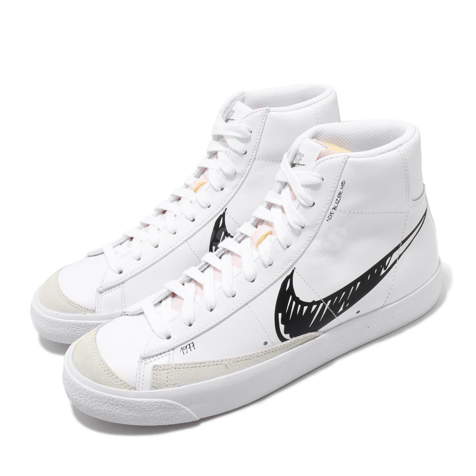 Details about Nike Blazer Mid VNTG 77 Sketch White Black Vintage Men Women  Shoes CW7580-101