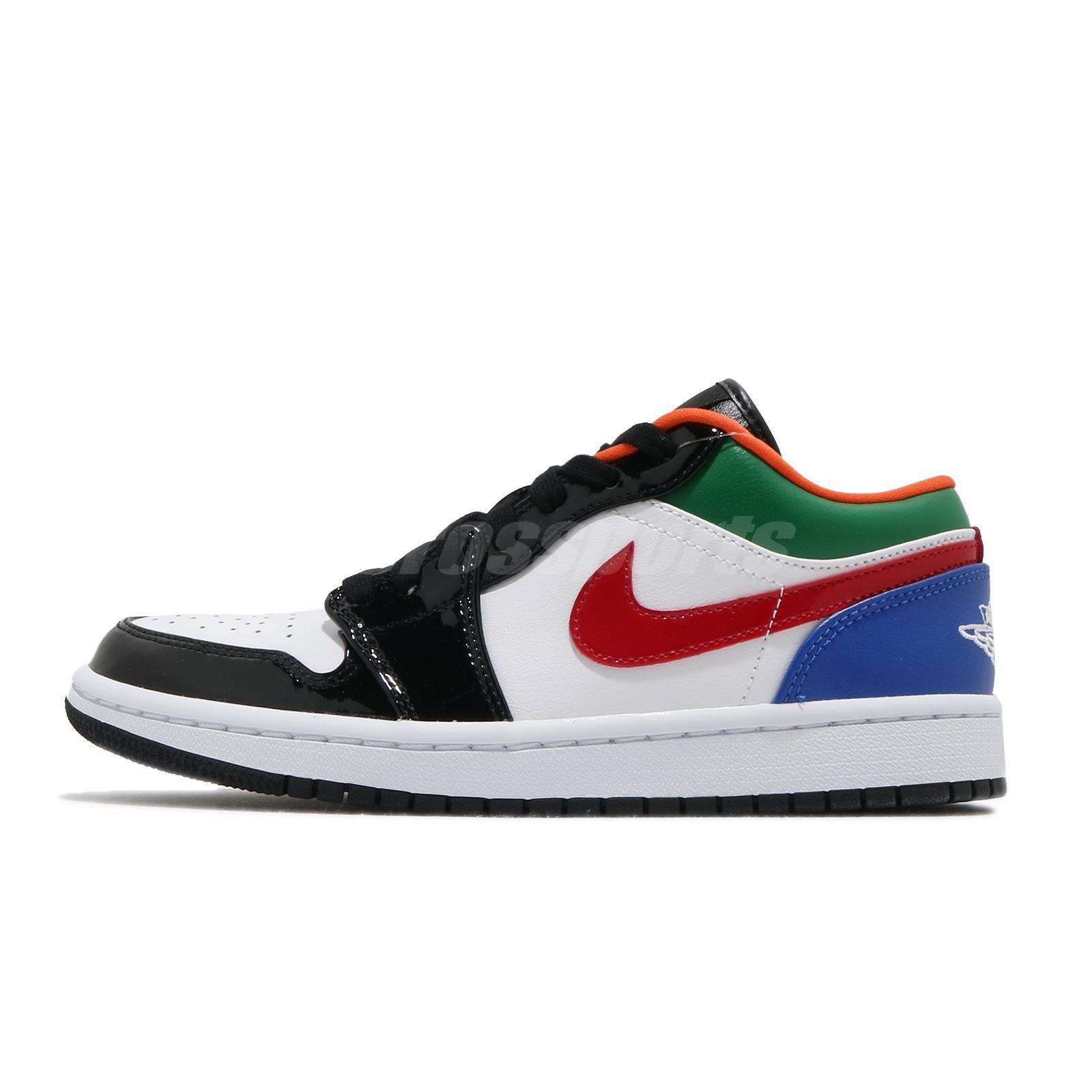 Nike Air Jordan 1 Low Se Multi Color Black Toe White Red Women