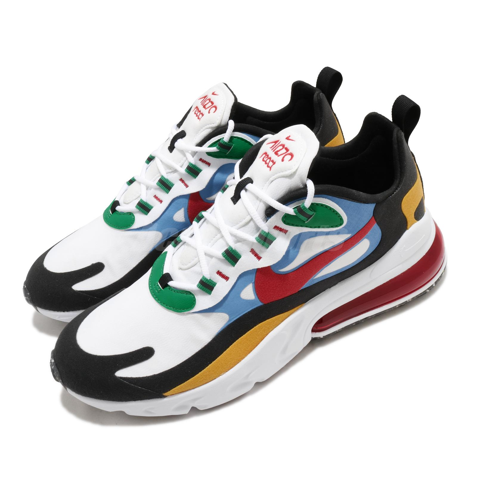 Details about Nike Air Max 270 React White Red Blue Green Yellow Black Men  Shoes DA2610-161