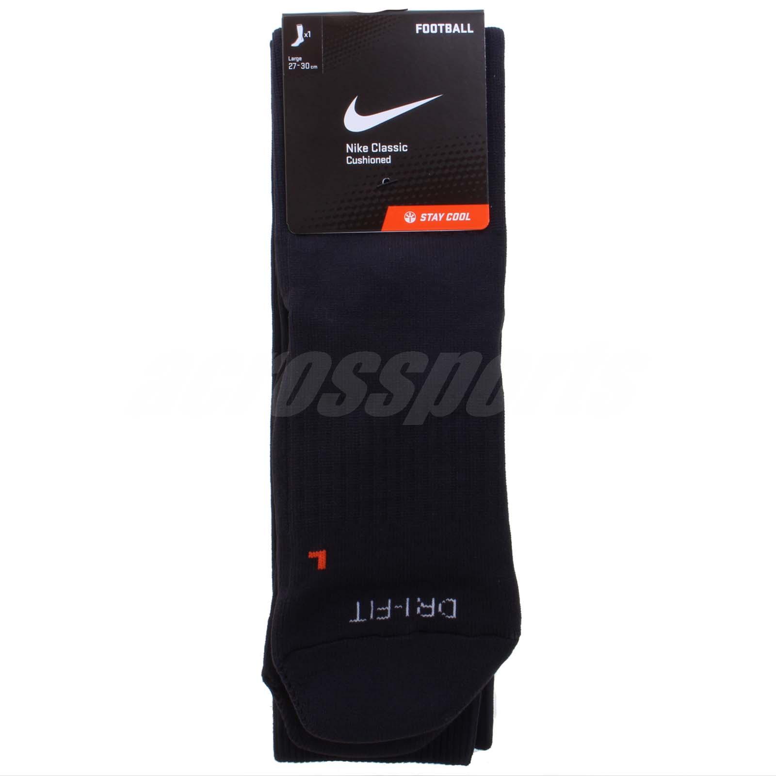 8fb842cdcd54bb Nike Classic Football Dri-Fit Black Mens Socks Soccer Knee Socks SX4120-001