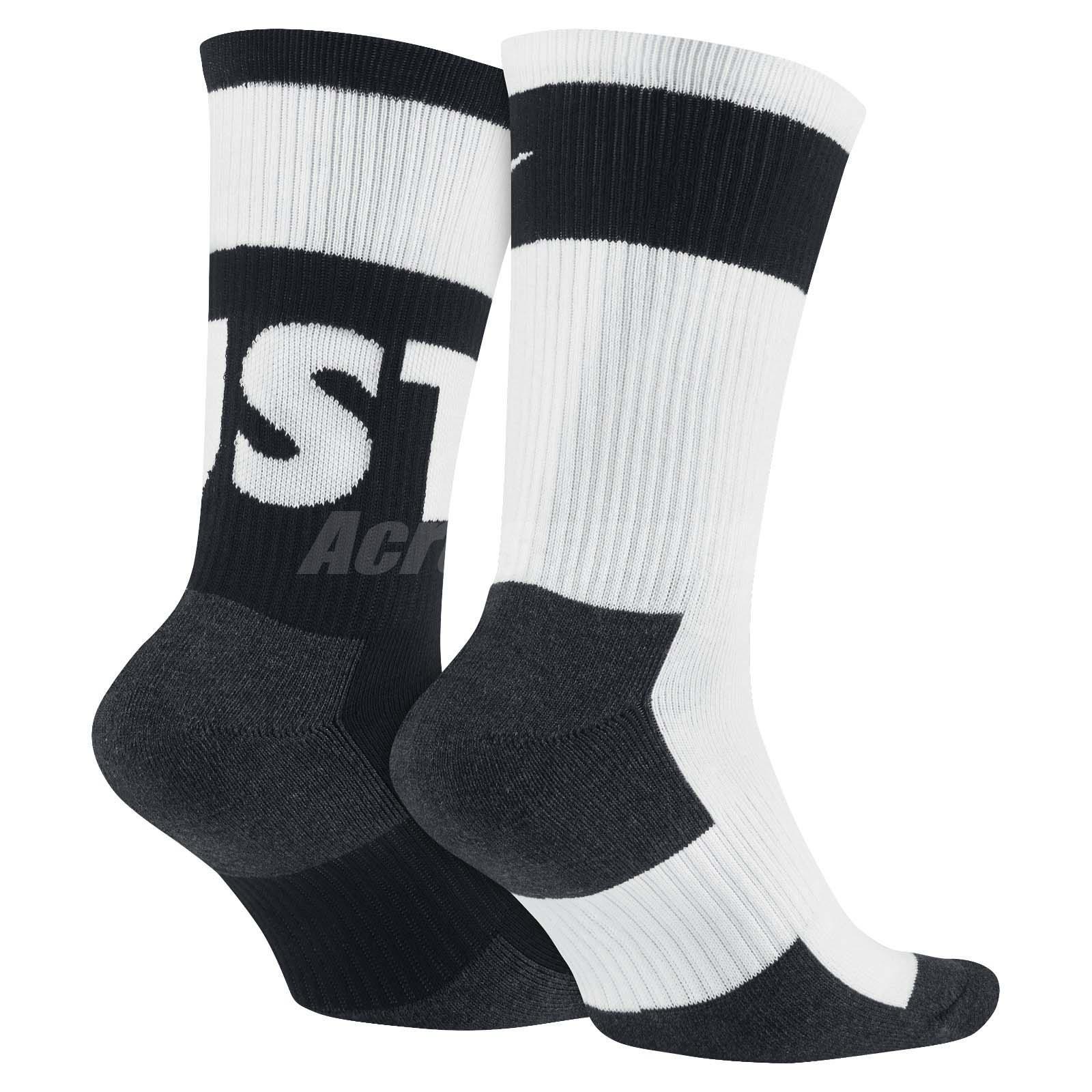 Detalles acerca de Nike Hombres Sportswear Crew Calcetines 2 pares 1 Paquete De Entrenamiento Blanco Negro SX5770 940 mostrar título original