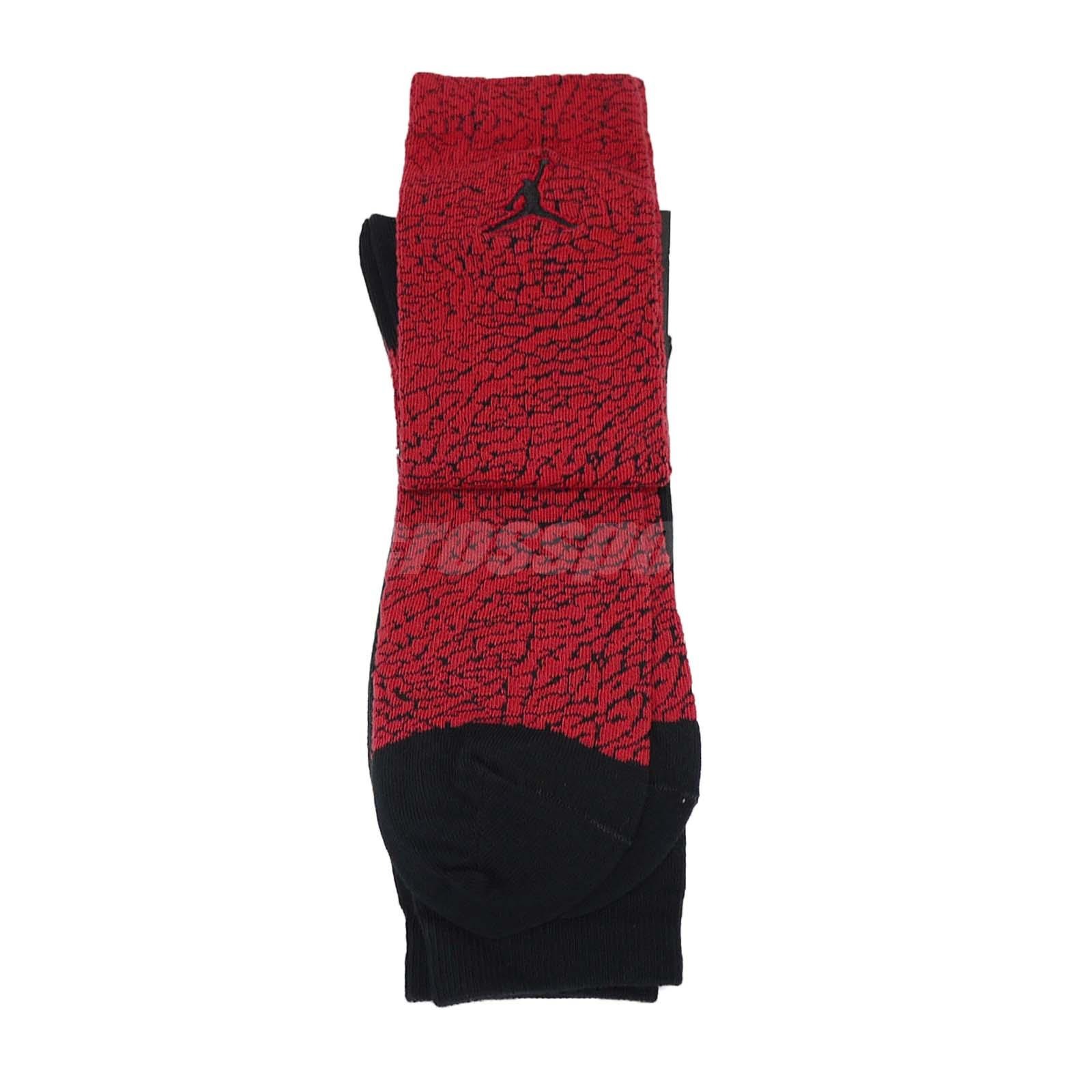 c04537b5185c Nike Unisex Jordan Elephant Crew Socks 2 Pairs 1 Pack Air Jumpman AJ ...