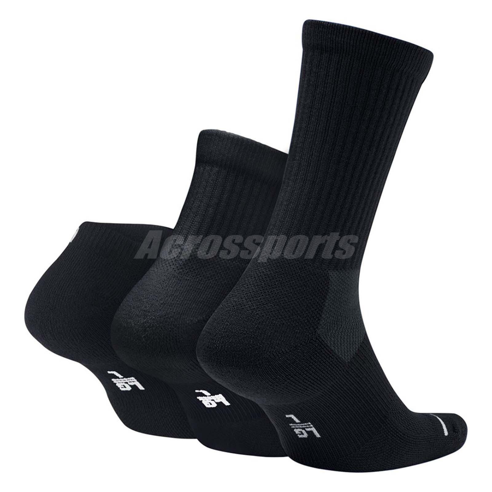 348e190ab664 Nike Air Jordan Everyday Max Waterfall Socks 3 Pairs 1 Pack Gym ...