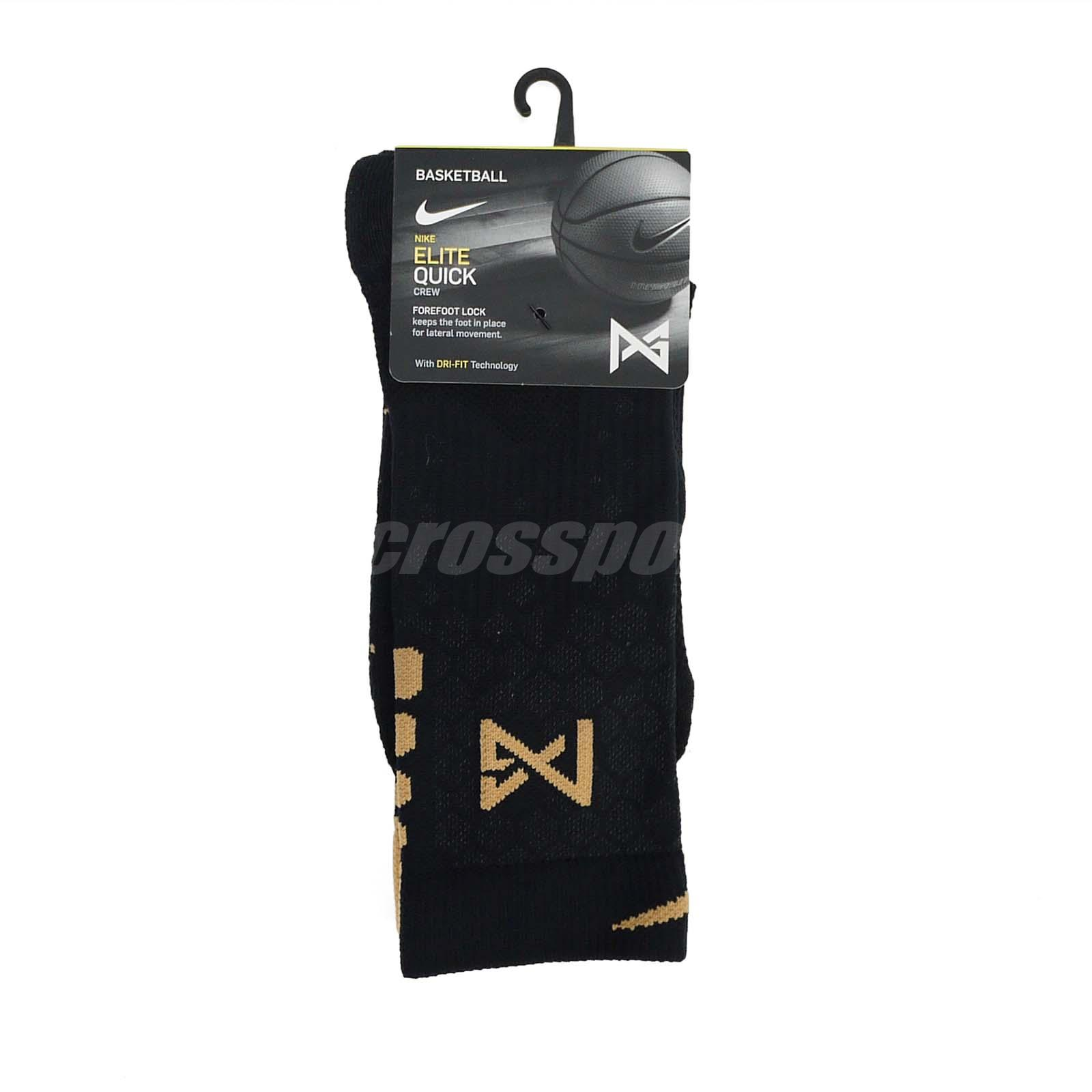 78648dffeec2f Details about Nike Unisex Basketball Elite Quick PG Crew Socks Paul George  NBA Gold SX6327-011