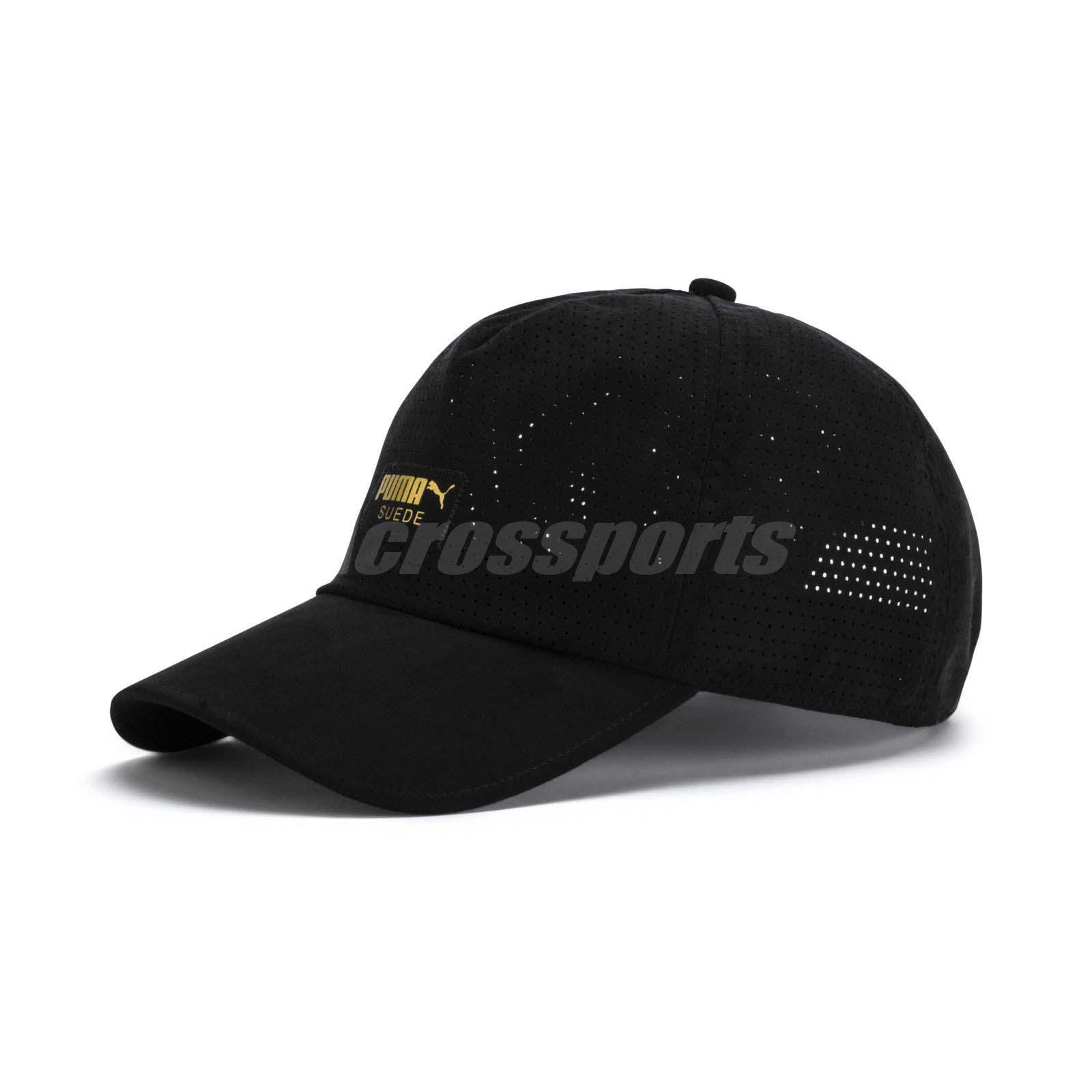 e9a4df88df39e Puma Unisex Suede Baseball Cap Sport Running Training Workout Hat Black  02171701