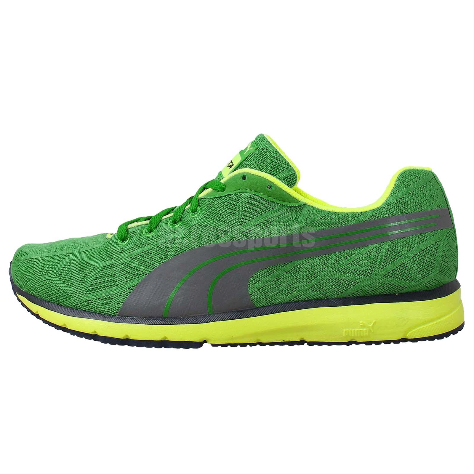 Puma Narita V2 Green Yellow 2014 Mens Running Shoes Runner