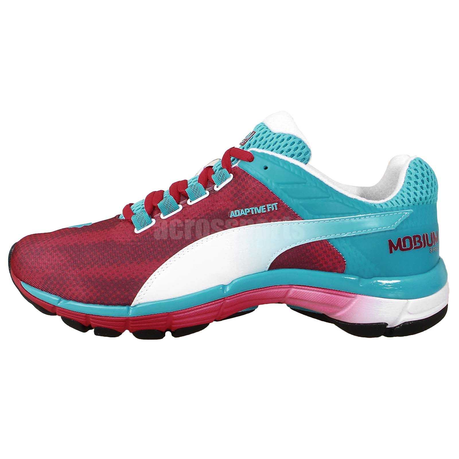 Puma Mobium Elite Speed Crimson Blue Mens Running Shoes ...
