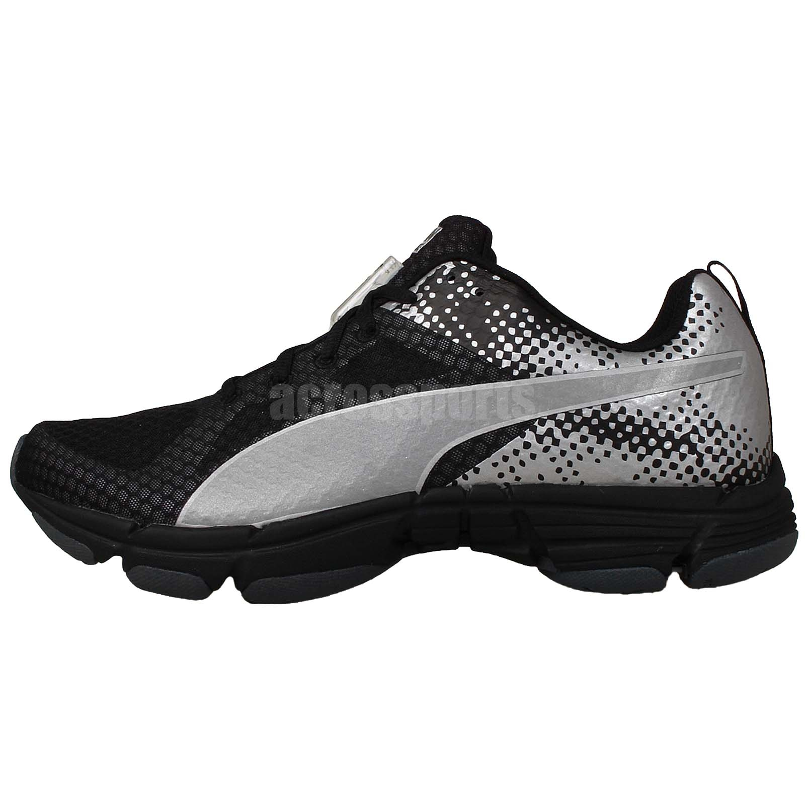 Puma Mobium Ride NC Powered Night Cat Black SIlver Unisex Running Shoes  18741802 7cd38ccf746df