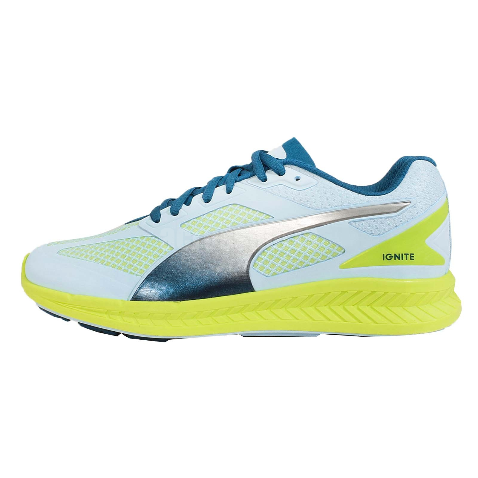 5275bc87894 Puma Ignite Mesh Wns Blue Green Womens Racing Running Shoes Sneakers  18858502