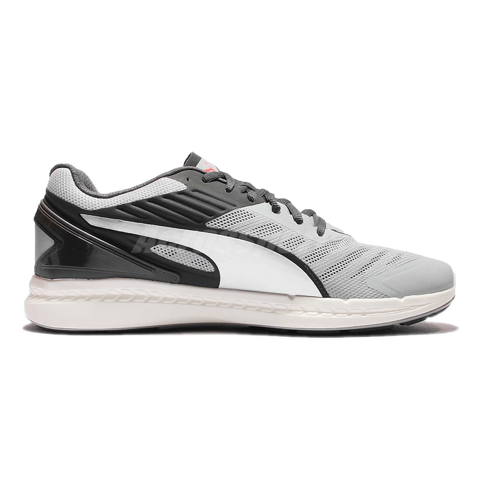 91dc321aaaa10a Puma Ignite V2 Silver Black Mens Cushion Running Shoes Sneakers ...