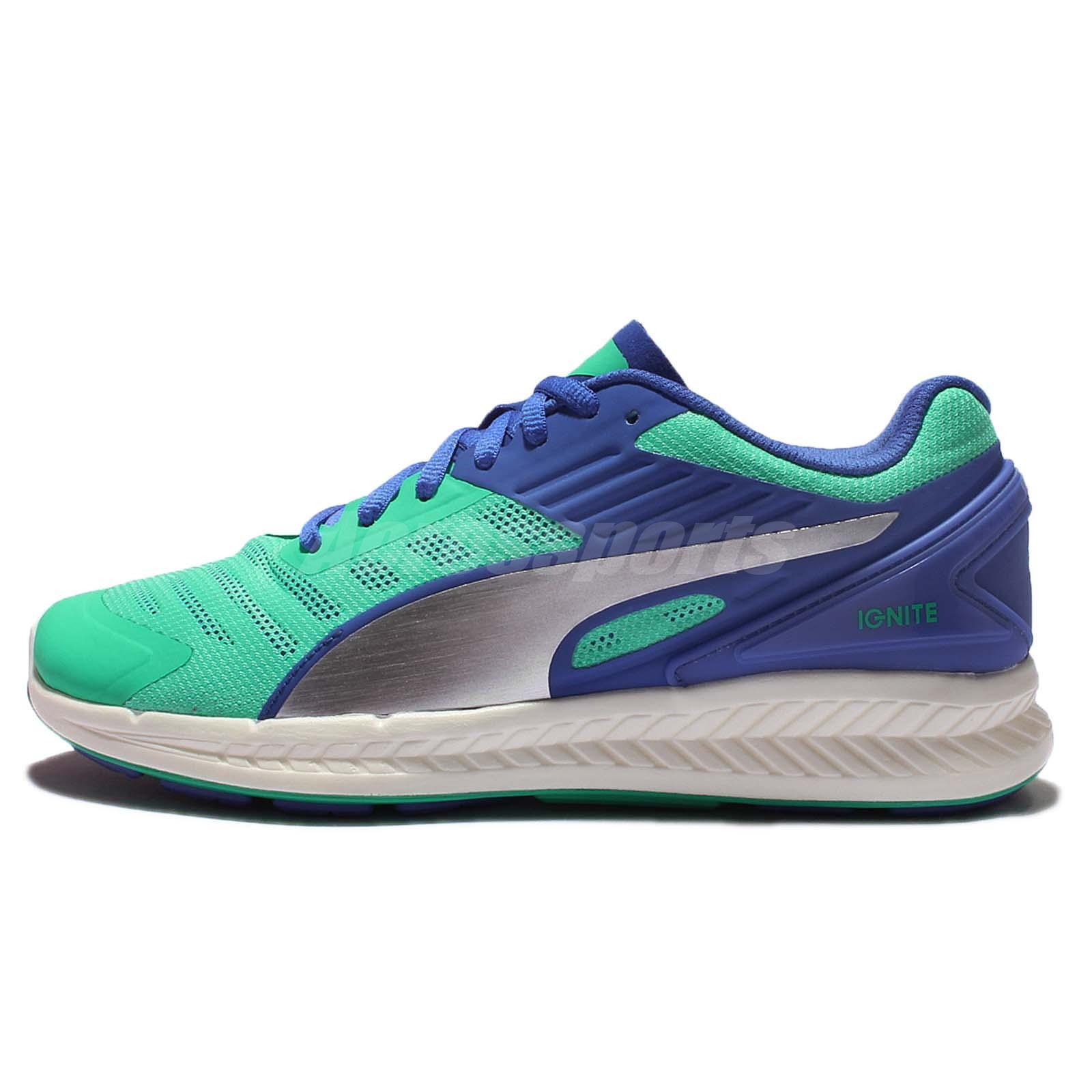 Puma Ignite V2 Mint Green Blue Womens Cushion Running Shoes 188612 04