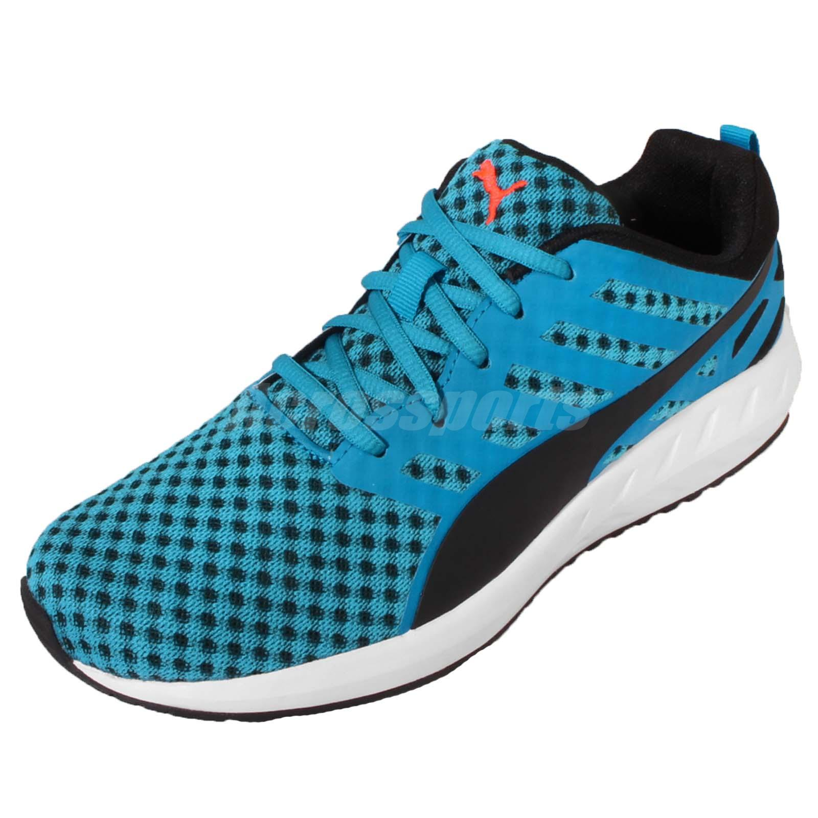 b49a3a7adcc Details about Puma Flare Blue Black White Men Running Casual Shoes Sneakers  Runner 188625-01