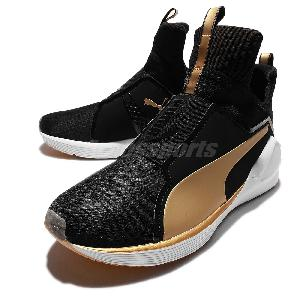 5c6ac790450 italy puma fierce gold kylie jenner black gold womens training shoes  trainers 18919202 f960e f01ea