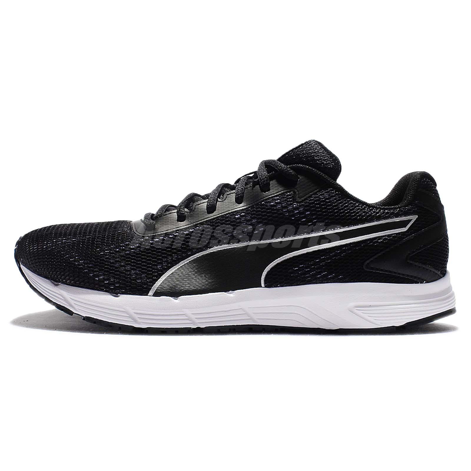 Puma Engine Black White Men Running Shoes Sneakers Trainers 189514-02
