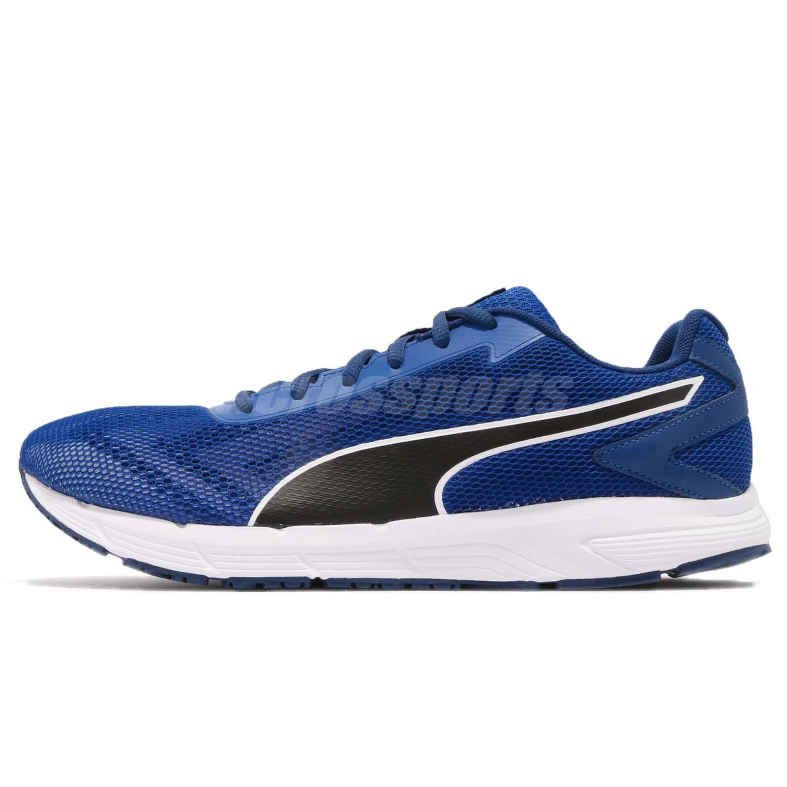 Puma Engine Blue Black White Mens Running Shoes Athletics Sneakers 189514-06 2689eb8370a76