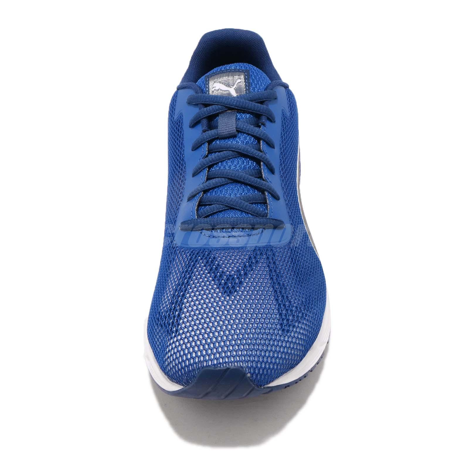 Motor Puma Azul Preto Branco Masculino Tênis de corrida Athletics ... 7cae53fee2e15