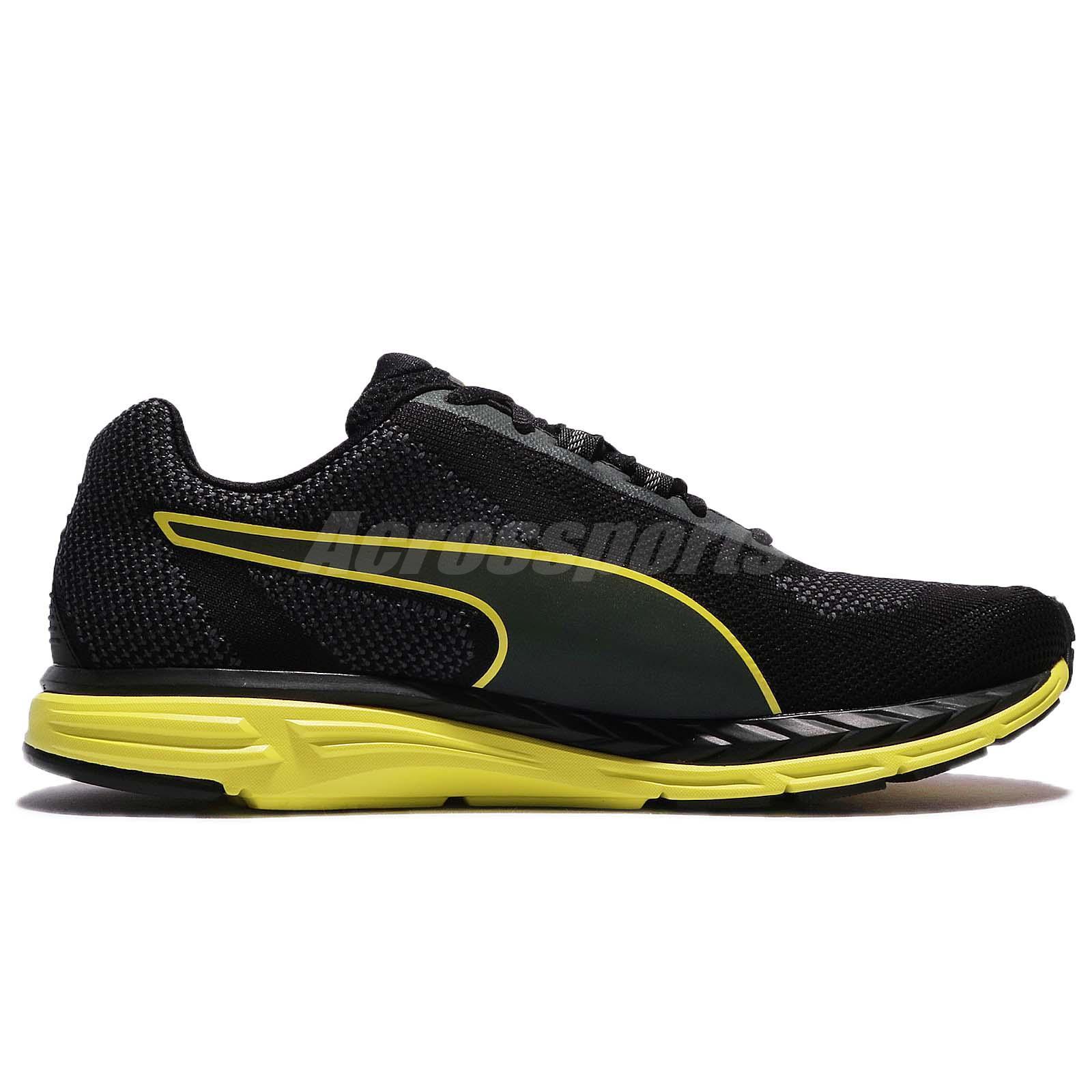 1b5c2e49b75 Puma Speed 500 Ignite Nightcat 2 II Black Yellow Men Running Shoes ...