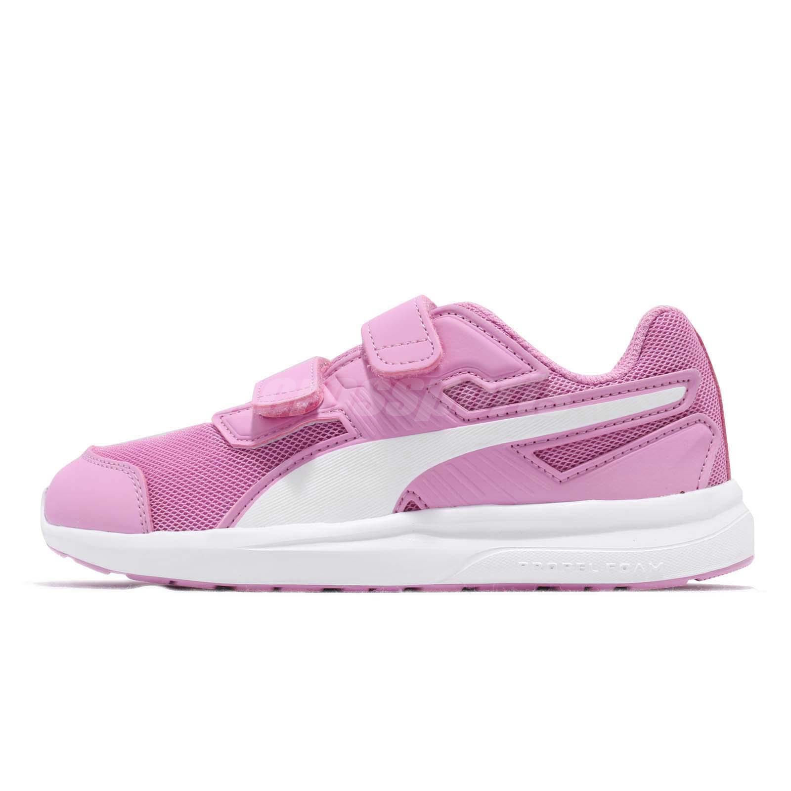 Puma Escaper Mesh V PS Orchid White Strap Kid Preschool Shoes Sneakers  190326-09 202bf7c04b4