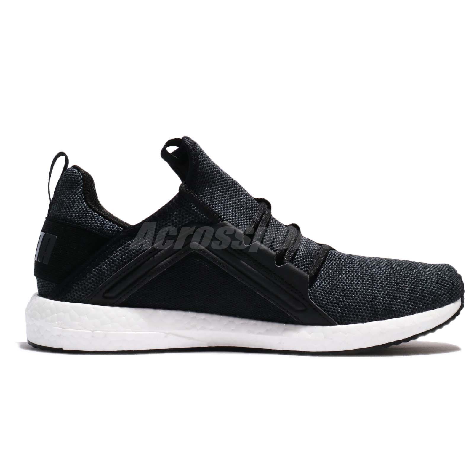2e0816ce69da Puma Mega NRGY Knit Black Asphalt White Men Running Shoes Sneakers ...