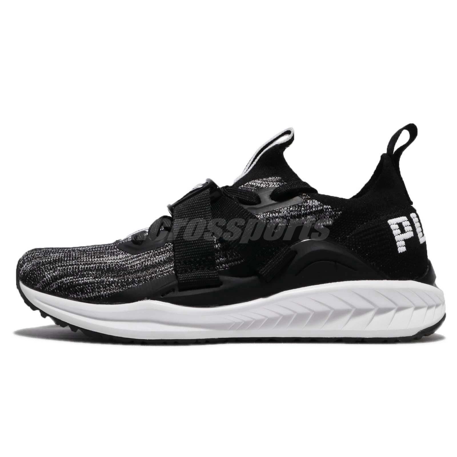 7a194dff4a1b18 Puma Ignite EvoKnit Lo 2 II Black White Men Running Shoes Sneakers 190459-02