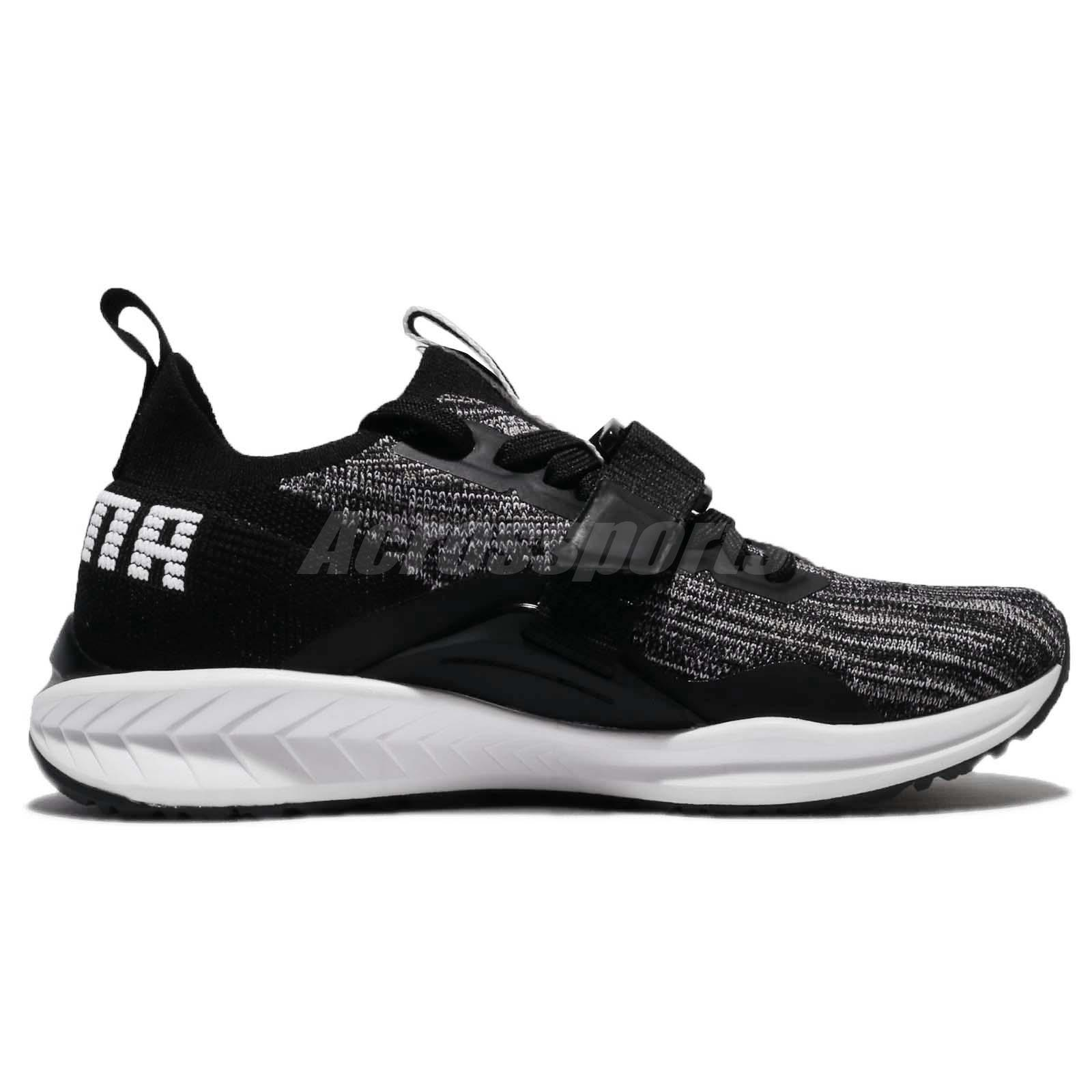 aa386a689629fd Puma Ignite EvoKnit Lo 2 II Black White Men Running Shoes Sneakers ...