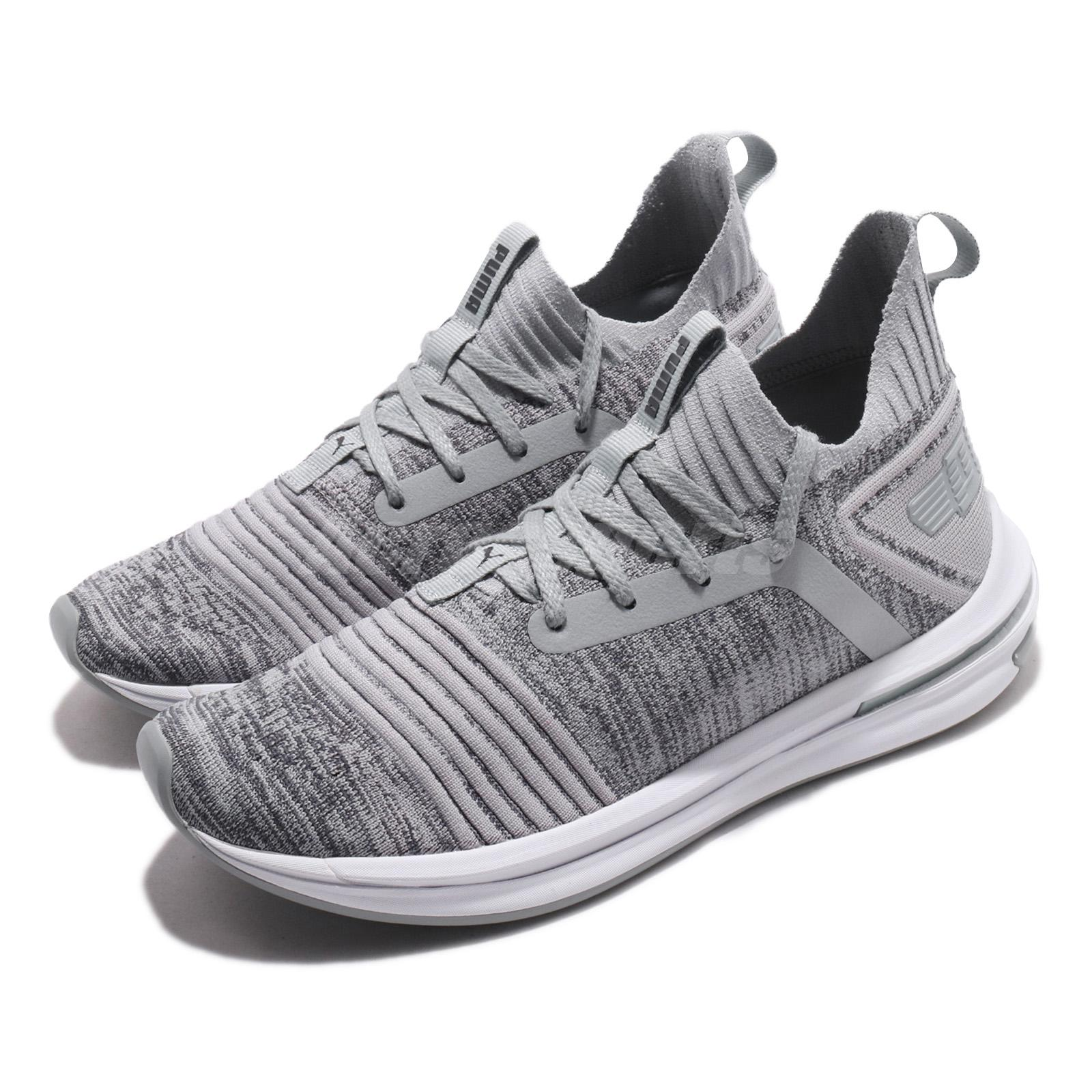 Details about Puma Ignite Limitless SR Evoknit Quarry Grey White Men  Running Shoes 190484-04 e58f372f4