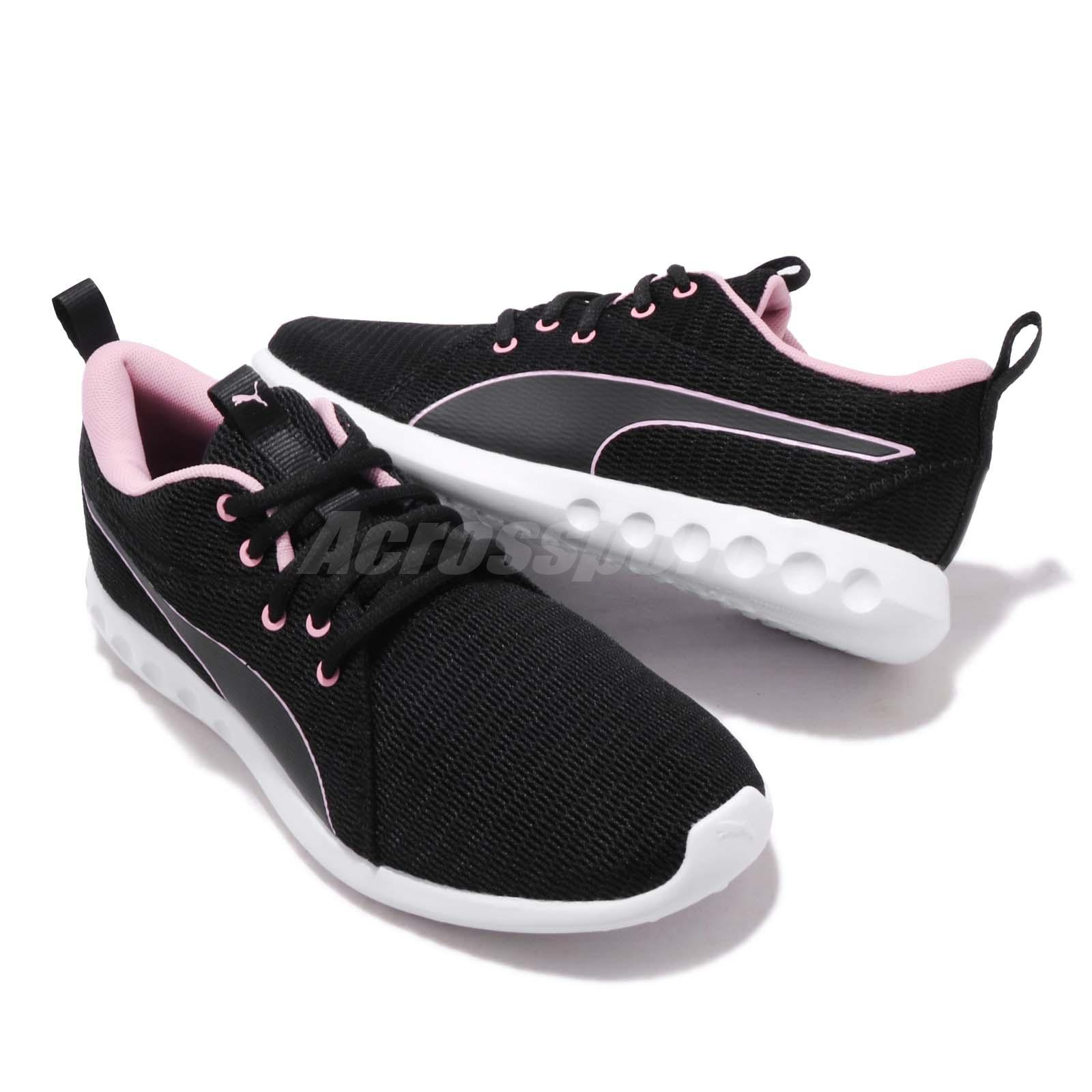 466b43022dd Puma Carson 2 New Core Wns Black Pale Pink White Women Running Shoes ...