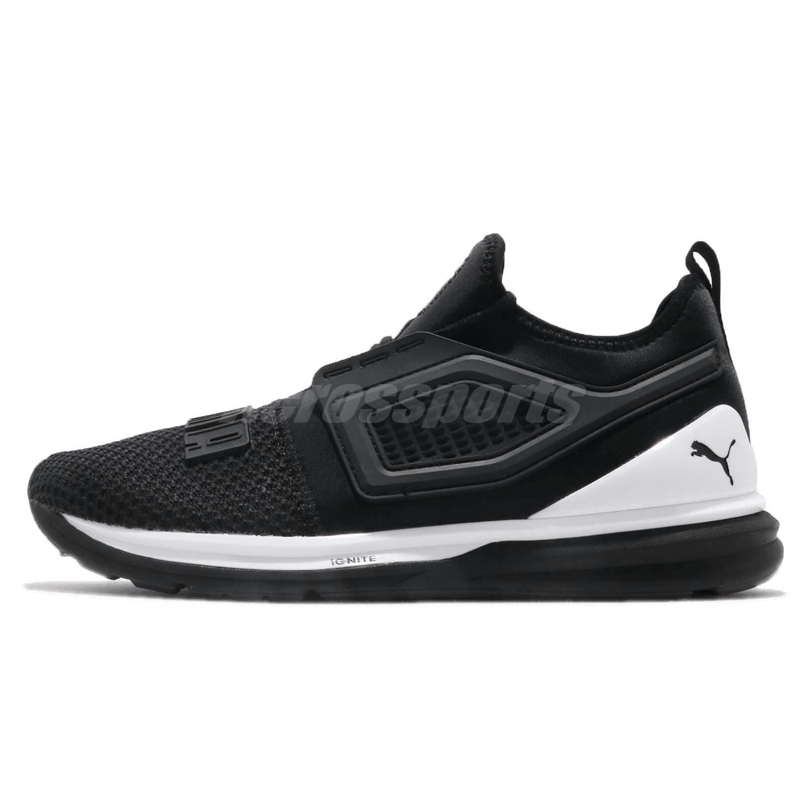7e17b9eb4d2aef Puma Ignite Limitless 2 Black White Men Running Training Shoes Sneaker  191293-01