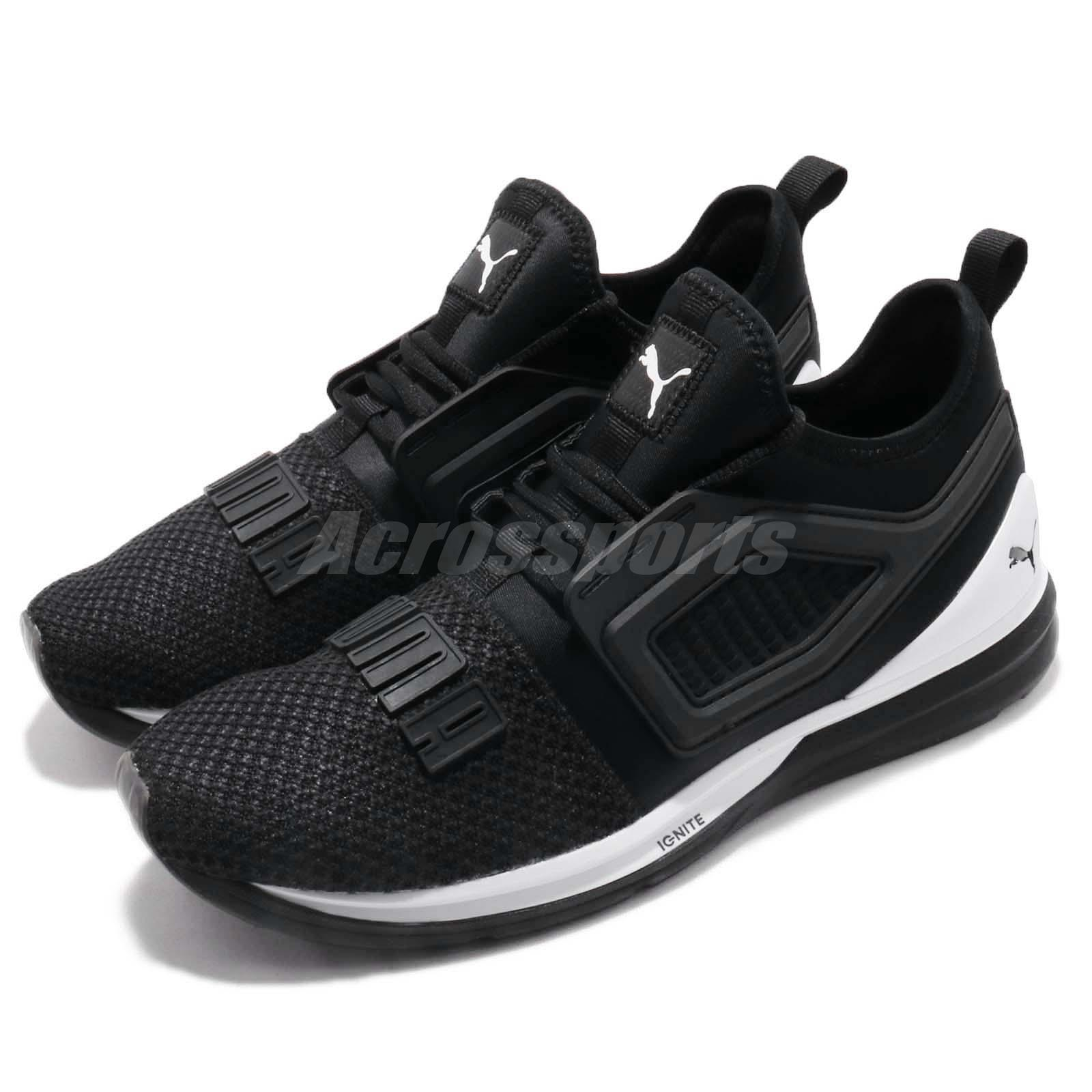 Details about Puma Ignite Limitless 2 Black White Men Running Training  Shoes Sneaker 191293-01 1aee1da08