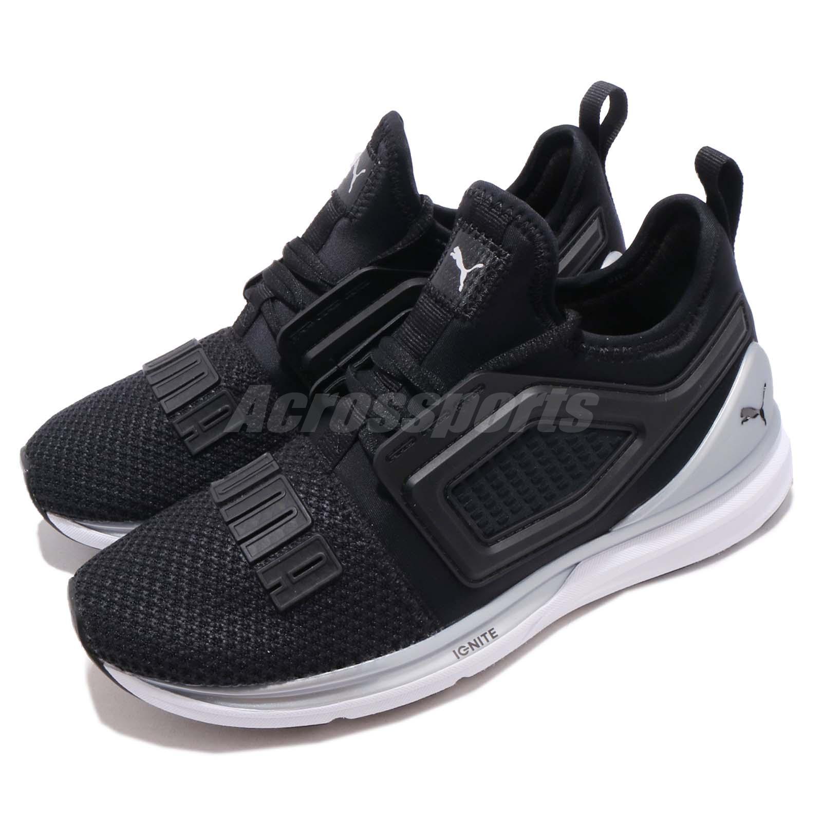 Dettagli su Puma Ignite Limitless 2 Black Silver White Men Running Shoes Sneakers 191293 13