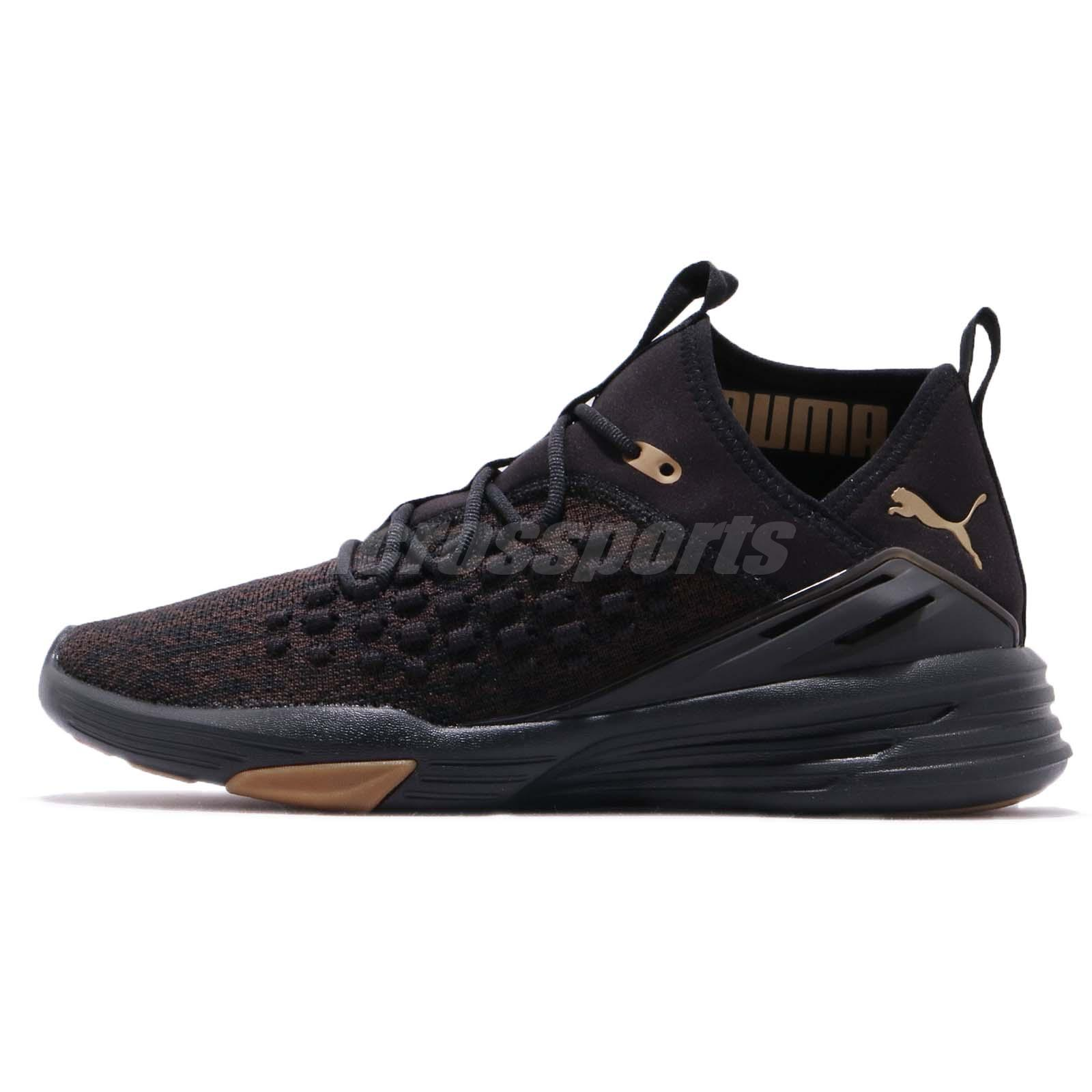 Details about Puma Mantra Fusefit Desert Black Gold Men Running Shoes Sneakers 191576 01