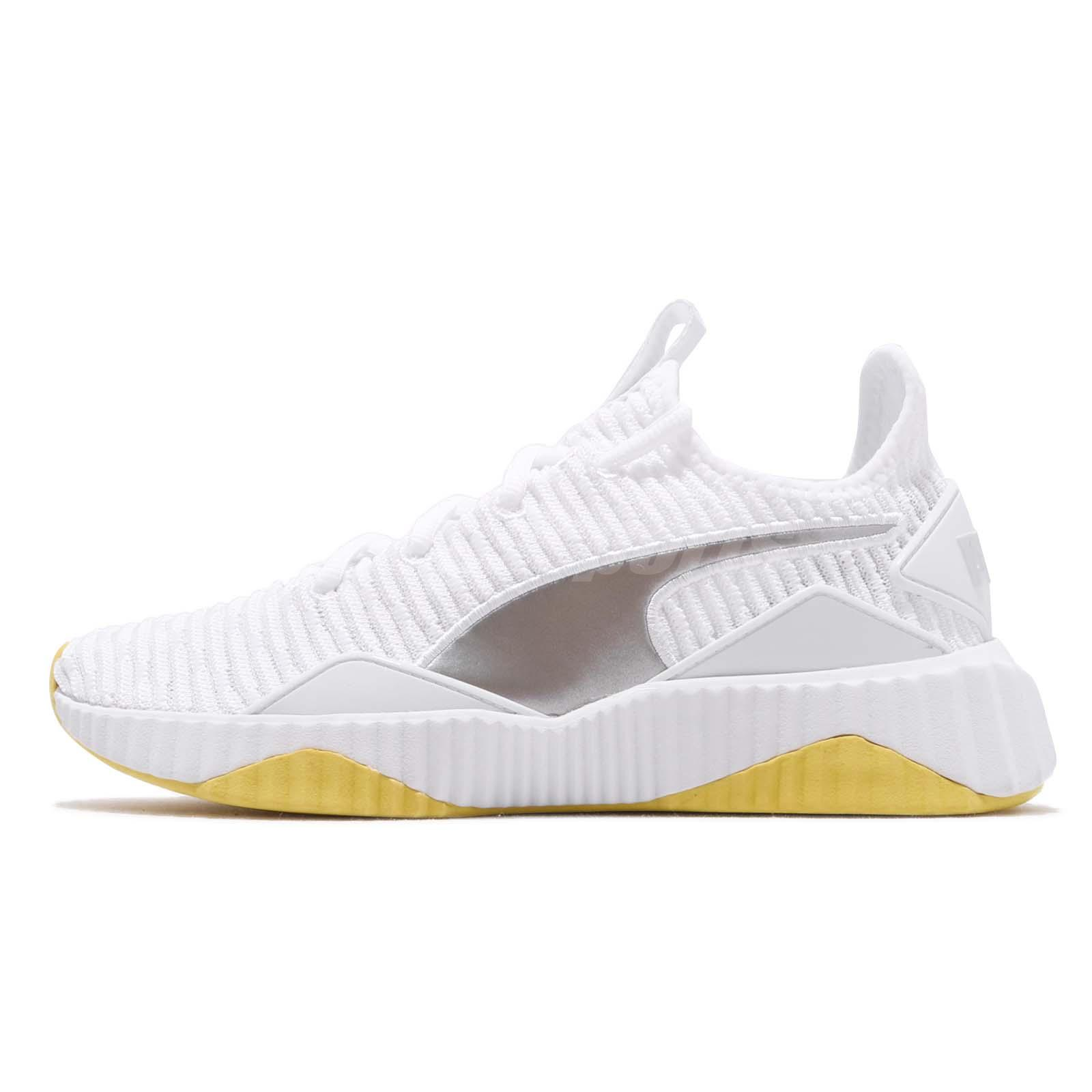 Details about Puma Defy TZ Wns White Blazing Yellow Women Running Shoes Sneakers 192249 01