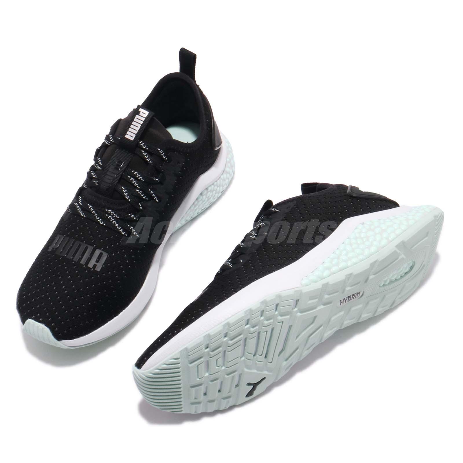 77c9e7c3588 Puma Hybrid NX TZ Wn Black Fair Aqua White Women Running Shoes ...