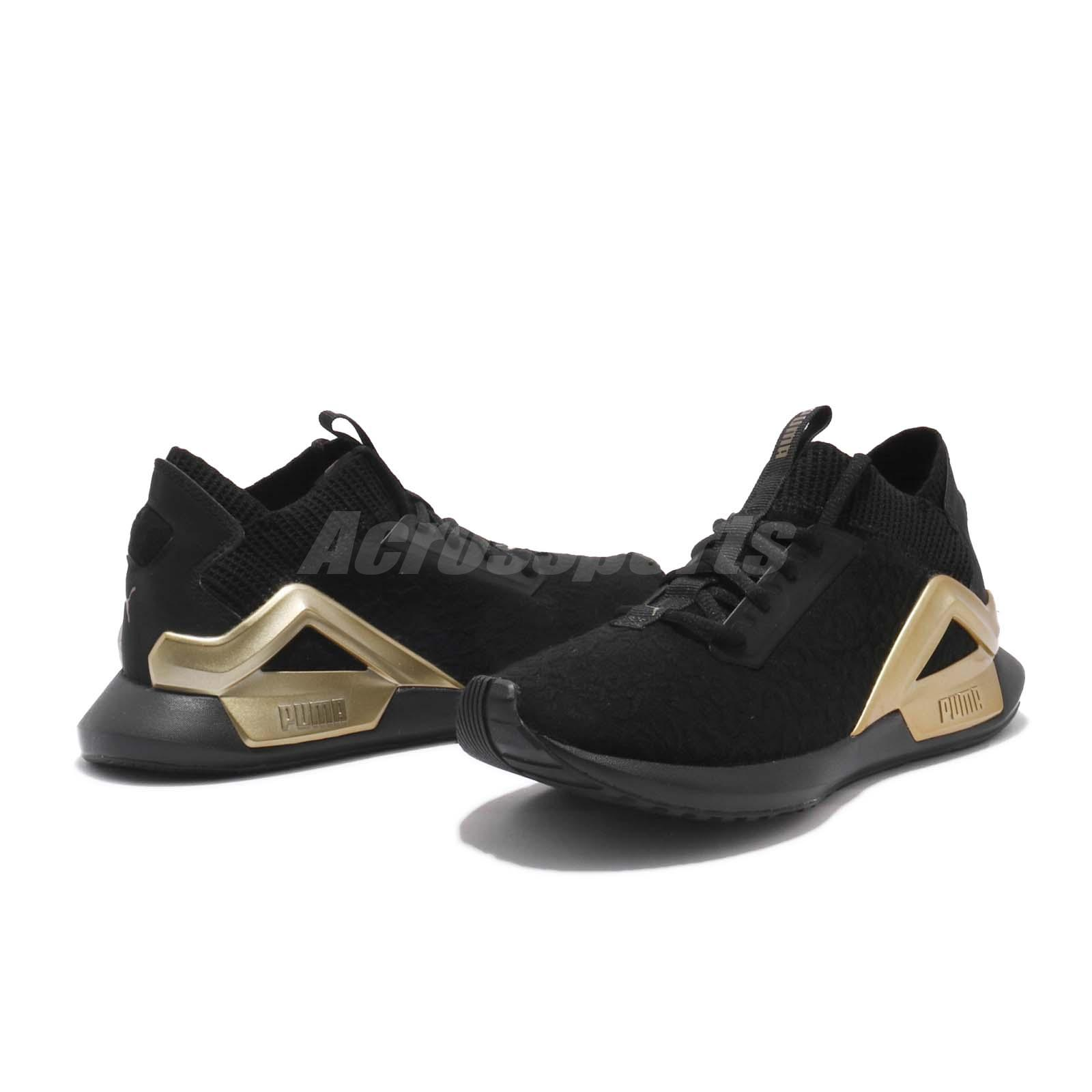 0fa54f934add Puma Rogue Metallic Wns Black Gold Women Cross Training Shoes ...