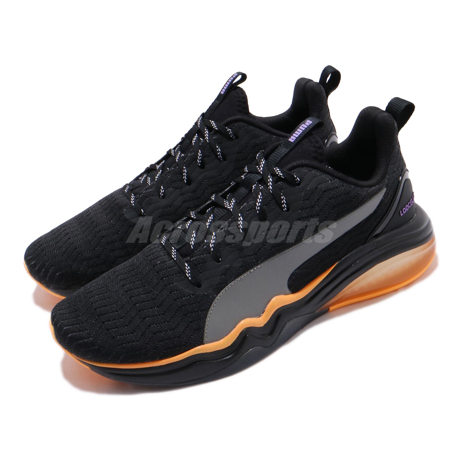 Details about Puma LQDCell Tension Rave Black Orange Men Cross Training  Shoe Sneaker 192609-01