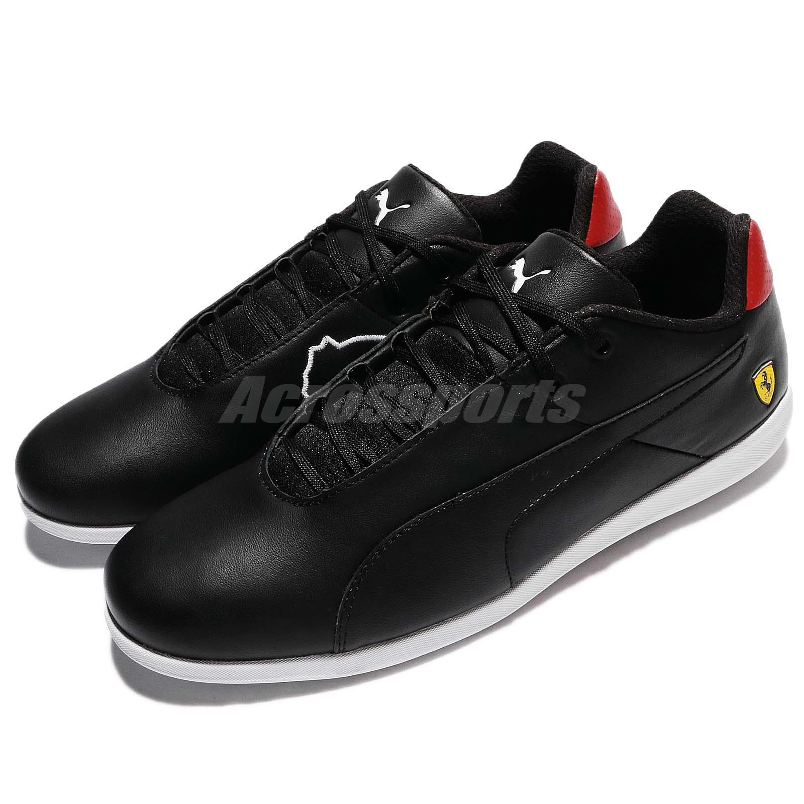3e912d3a22bb Details about Puma SF Future Cat Casual Ferrari Black Rosso Corsa Leather Men  Shoe 306001-02