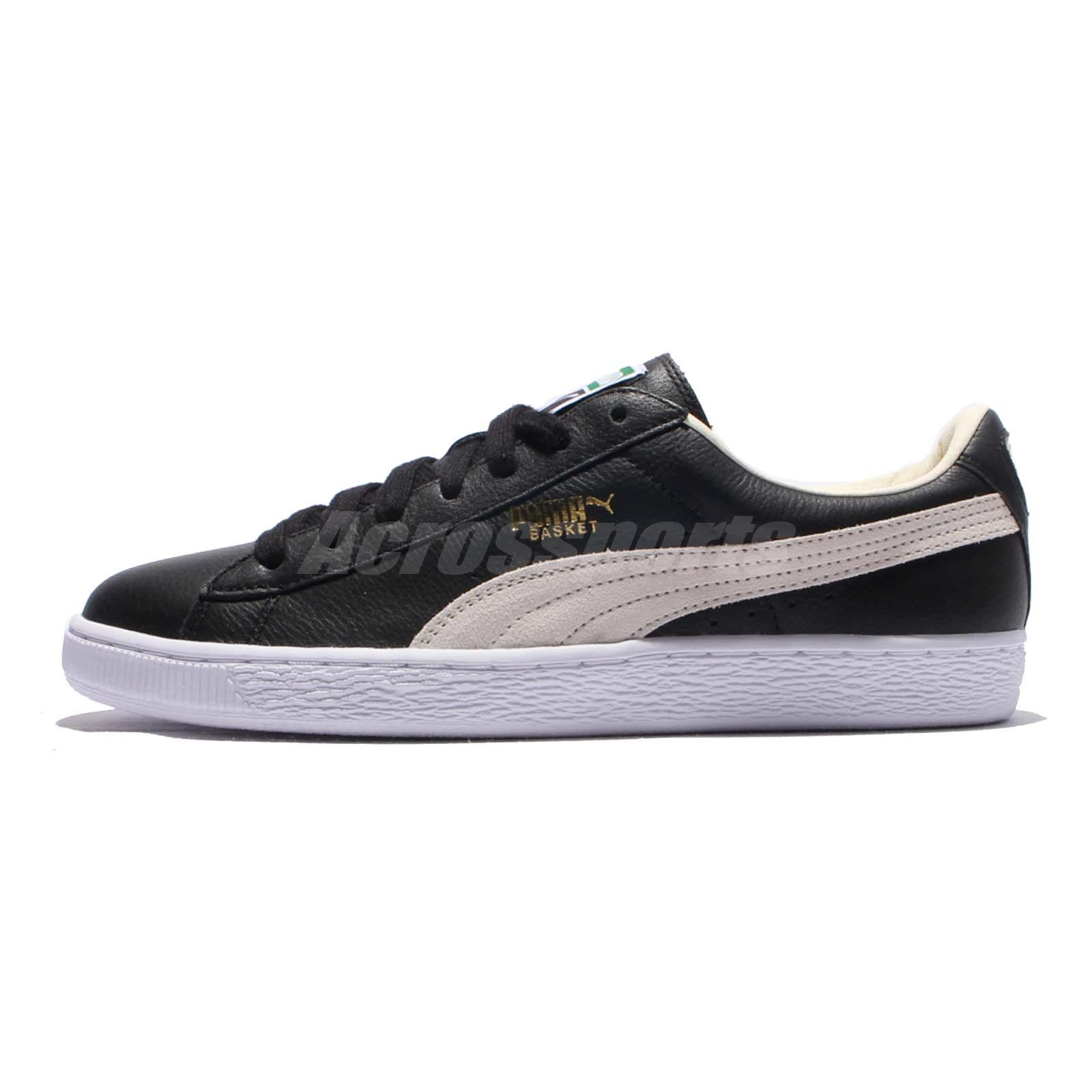 63516522ae5 Puma Basket Classic Black White Mens Casual Shoes Sneakers Trainers  351912-02