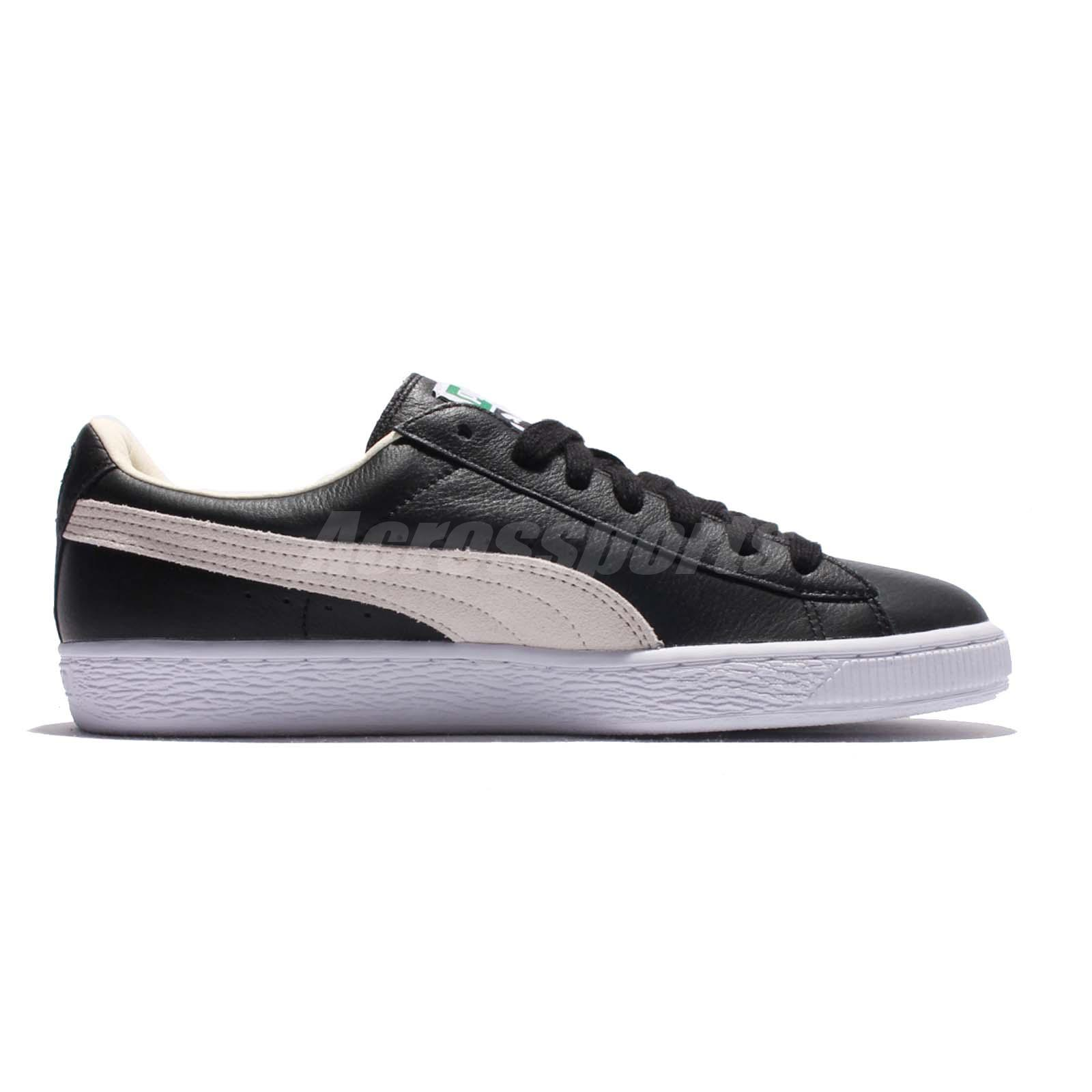 Puma Basket Classic Black White Mens Casual Shoes Sneakers Trainers ... 7372e7bff